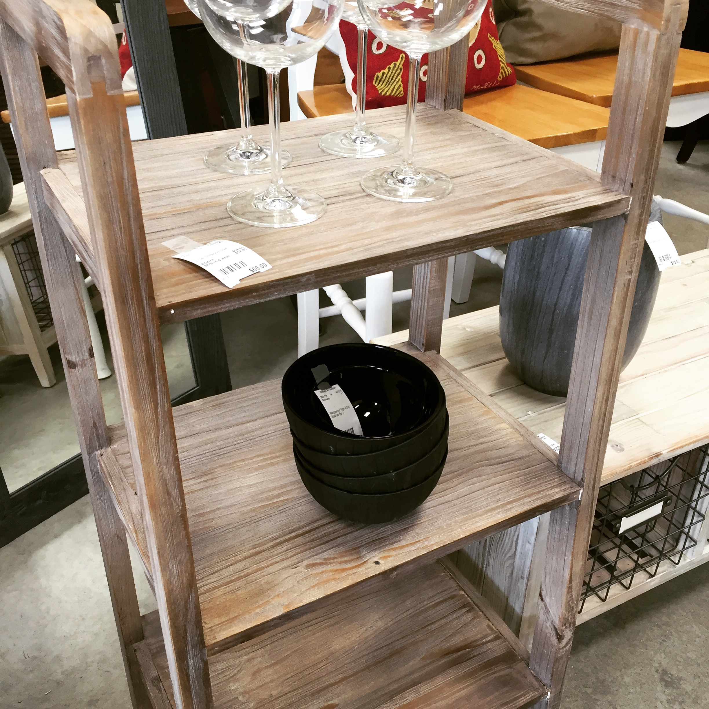 Pair Of 3-tier Driftwood Shelves-sold! - Designsbyconsign