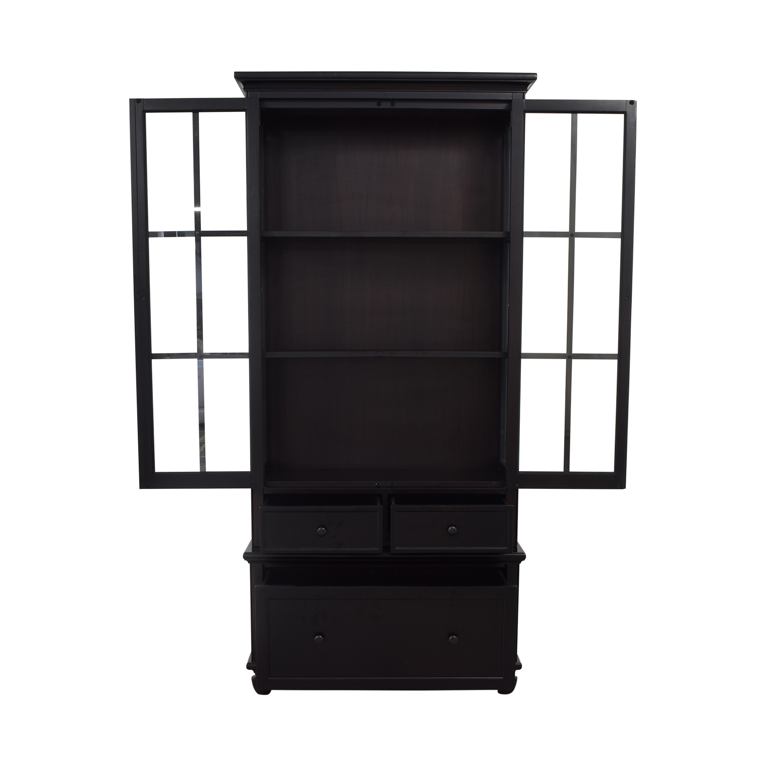 65% Off - Crate & Barrel Crate & Barrel Storage Bookcase With Shelves /  Storage
