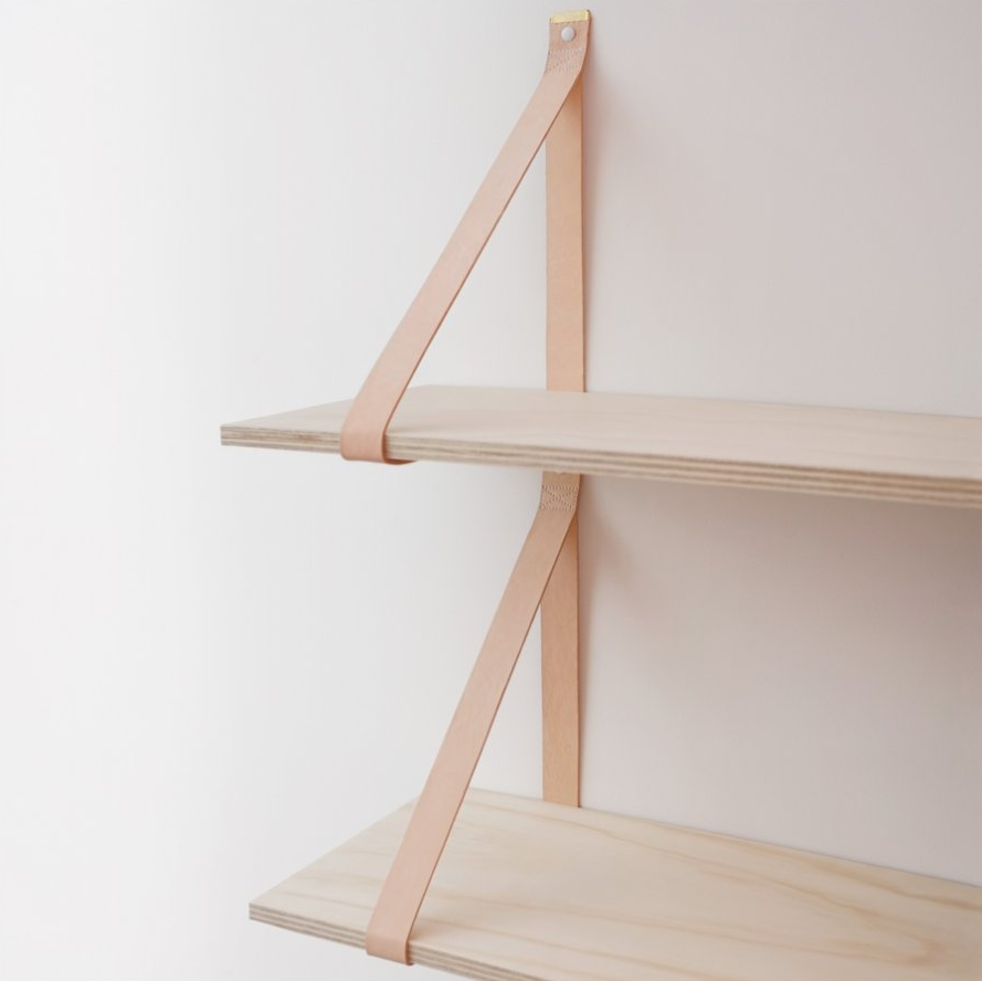 Leather + Wood Shelves / Weekday Carnival | Make | Home