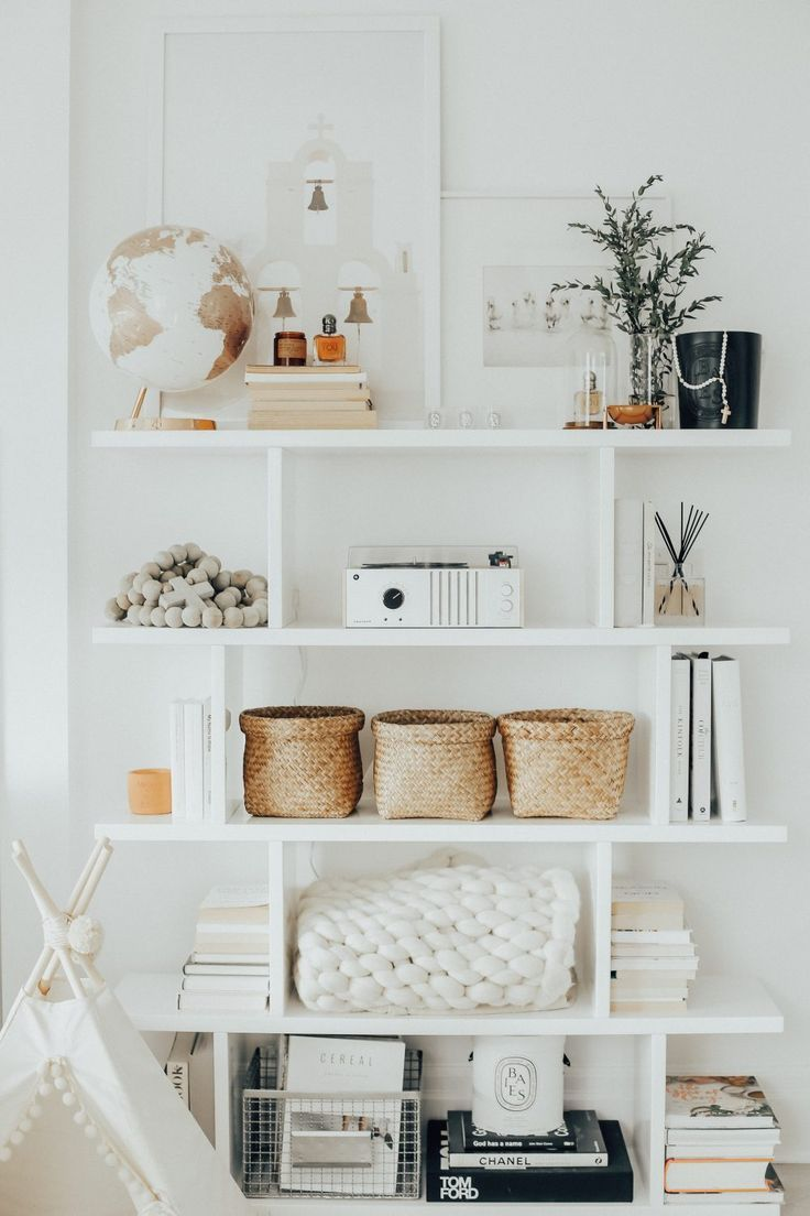 The Decor On These Open Shelves Are Well Done! | Decorating