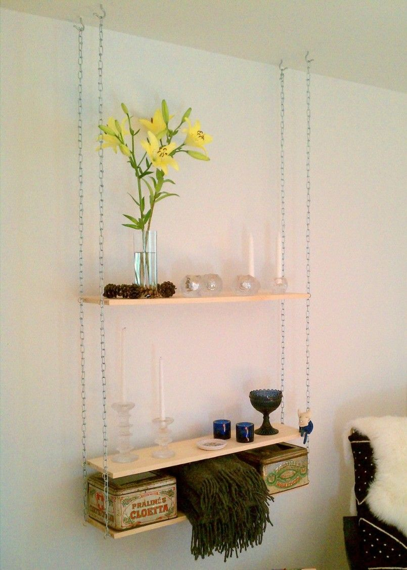 Well-arranged Hanging Shelves From Ceiling Ideas : Hanging
