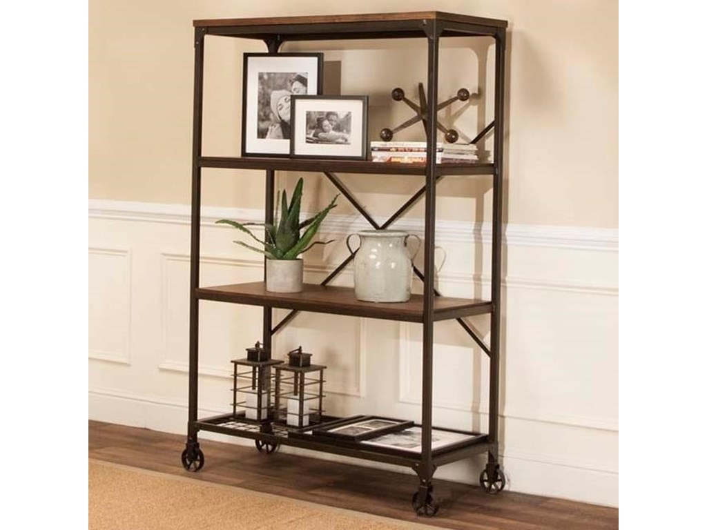 Craft Wide Back Metal & Wood Bookcase With Three Shelves By Cramco, Inc At  Royal Furniture