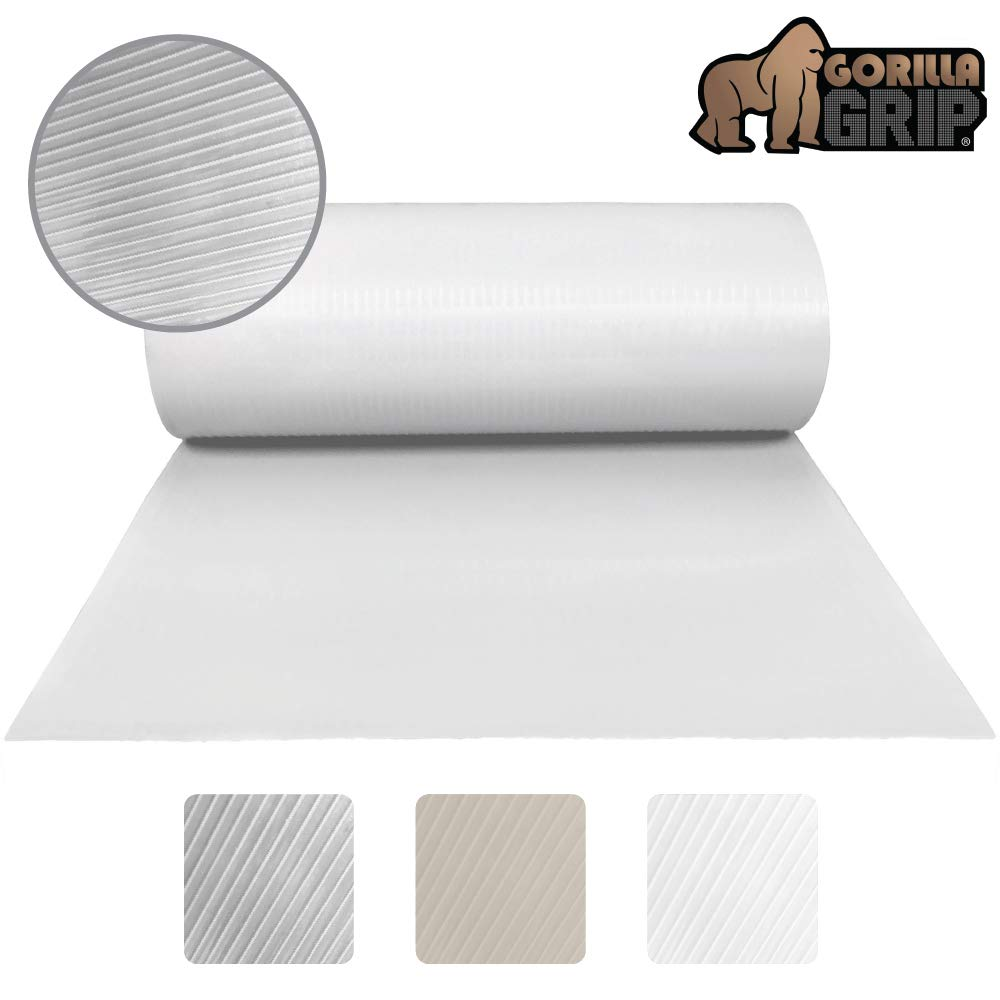 Gorilla Grip Ribbed Top Drawer And Shelf Liner, Non Adhesive Roll, 12 Inch  X 20 Ft, Durable And Strong, Grip Liners For Drawers, Shelves, Kitchen