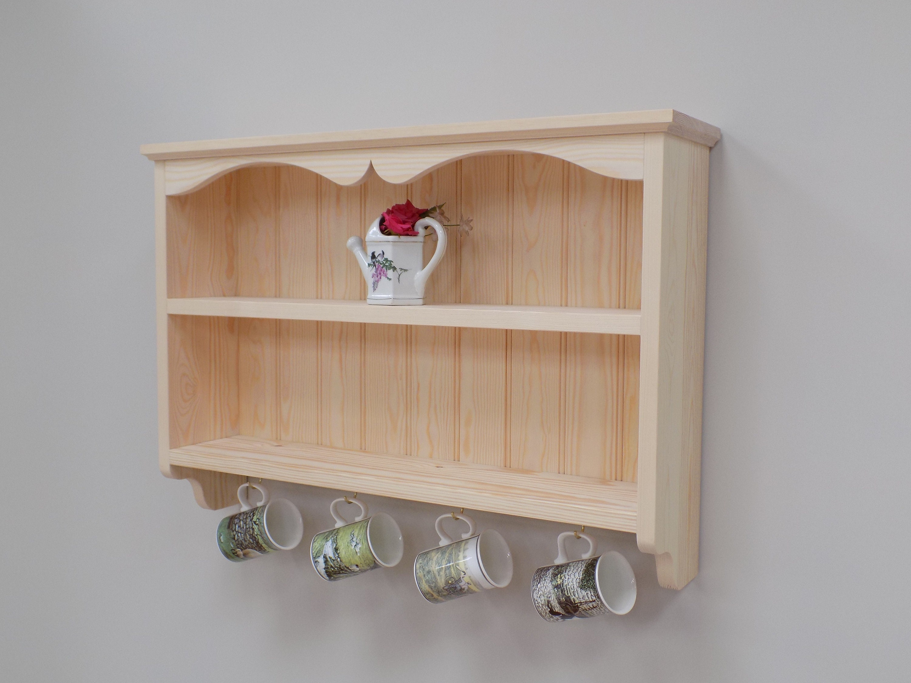 Kitchen Shelves Pine Wall Shelf Unit Kitchen Shelves With Hooks