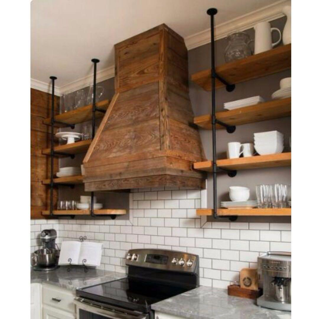 E103a-po-solid Pine Wood Kitchen Shelves, On Carousell
