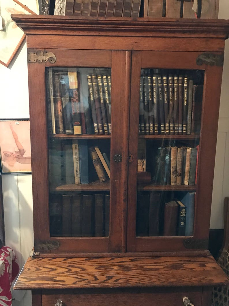 Primitive Farm House Cabinet, Extremely Old, Numerous Shelves, All  Original, 2 Piece, See Details
