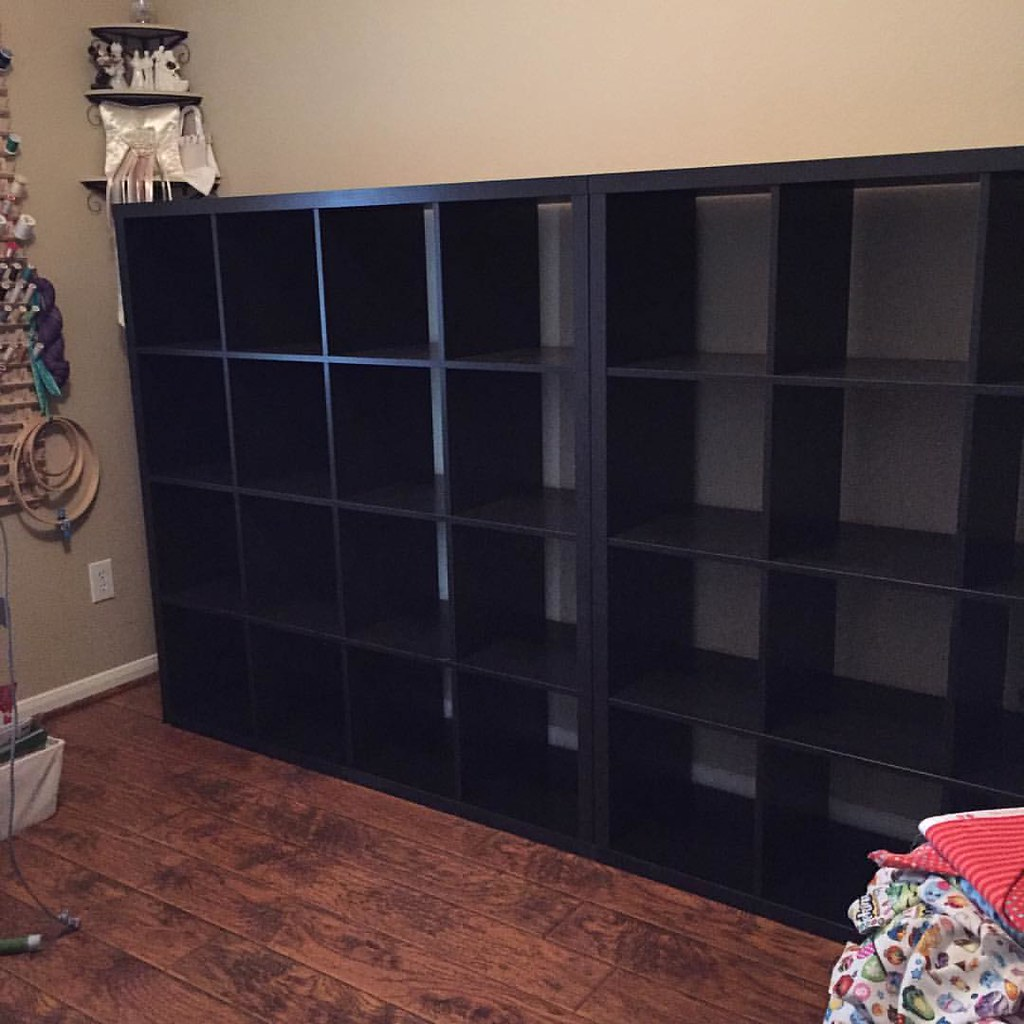 The New Sewing Room Shelves Are In! 32 Cubbies To Fill Wit