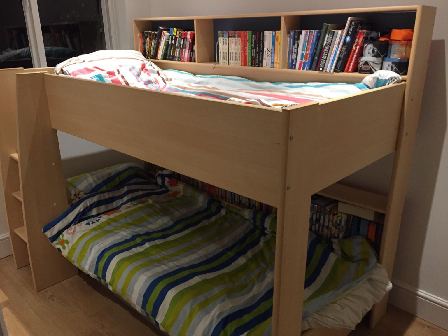 Bunk Bed With Integrated Book Shelves