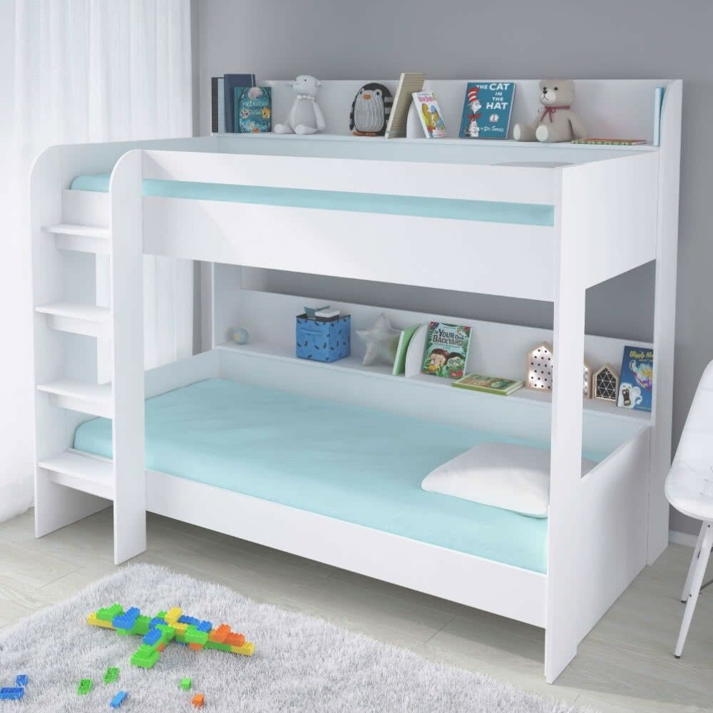 Kids White Single Bunk Bed Storage Shelves 190 90 Single Boy Girl   In  Leicester, Leicestershire   Gumtree