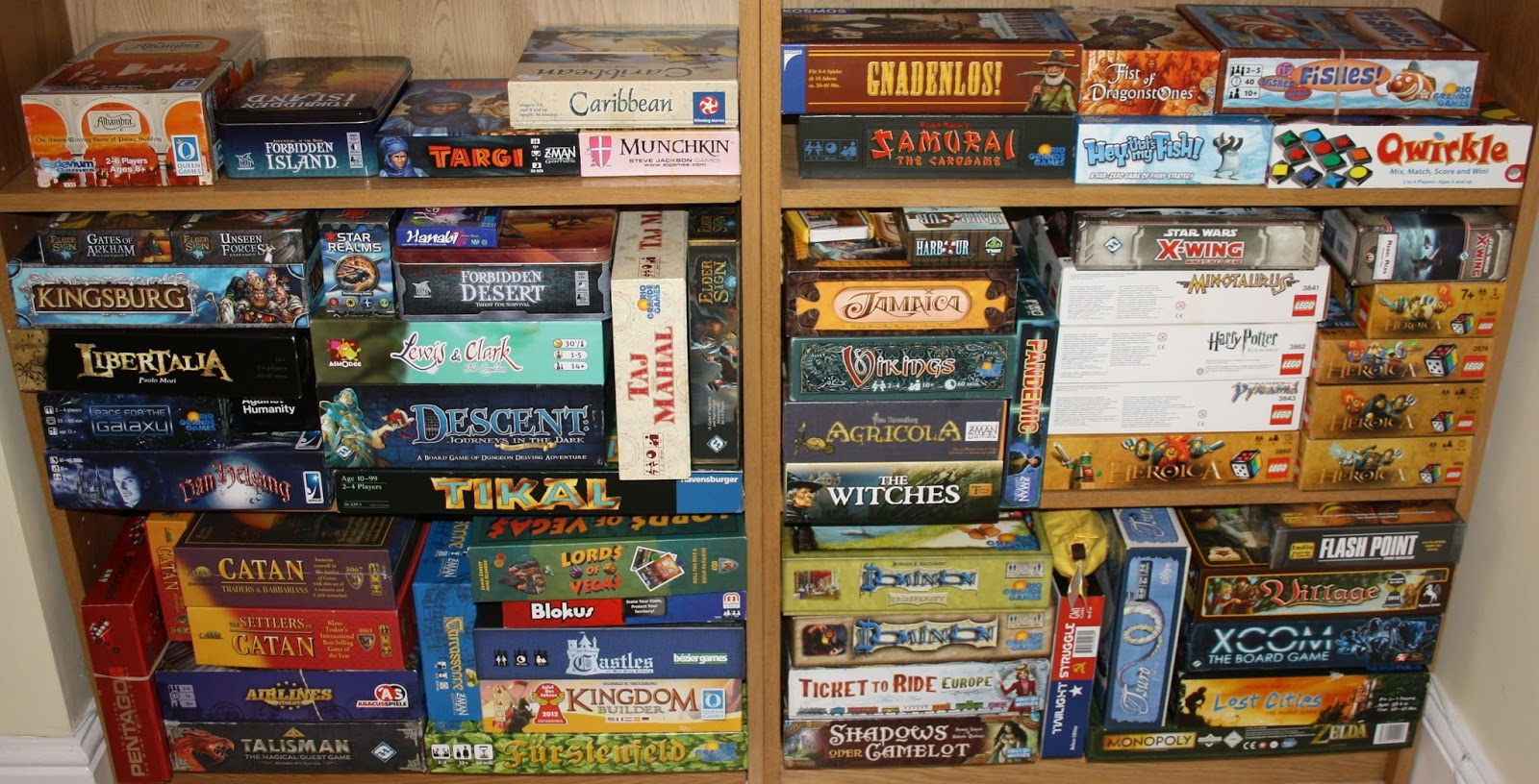 The Game Shelf: Our Sagging Game Shelves
