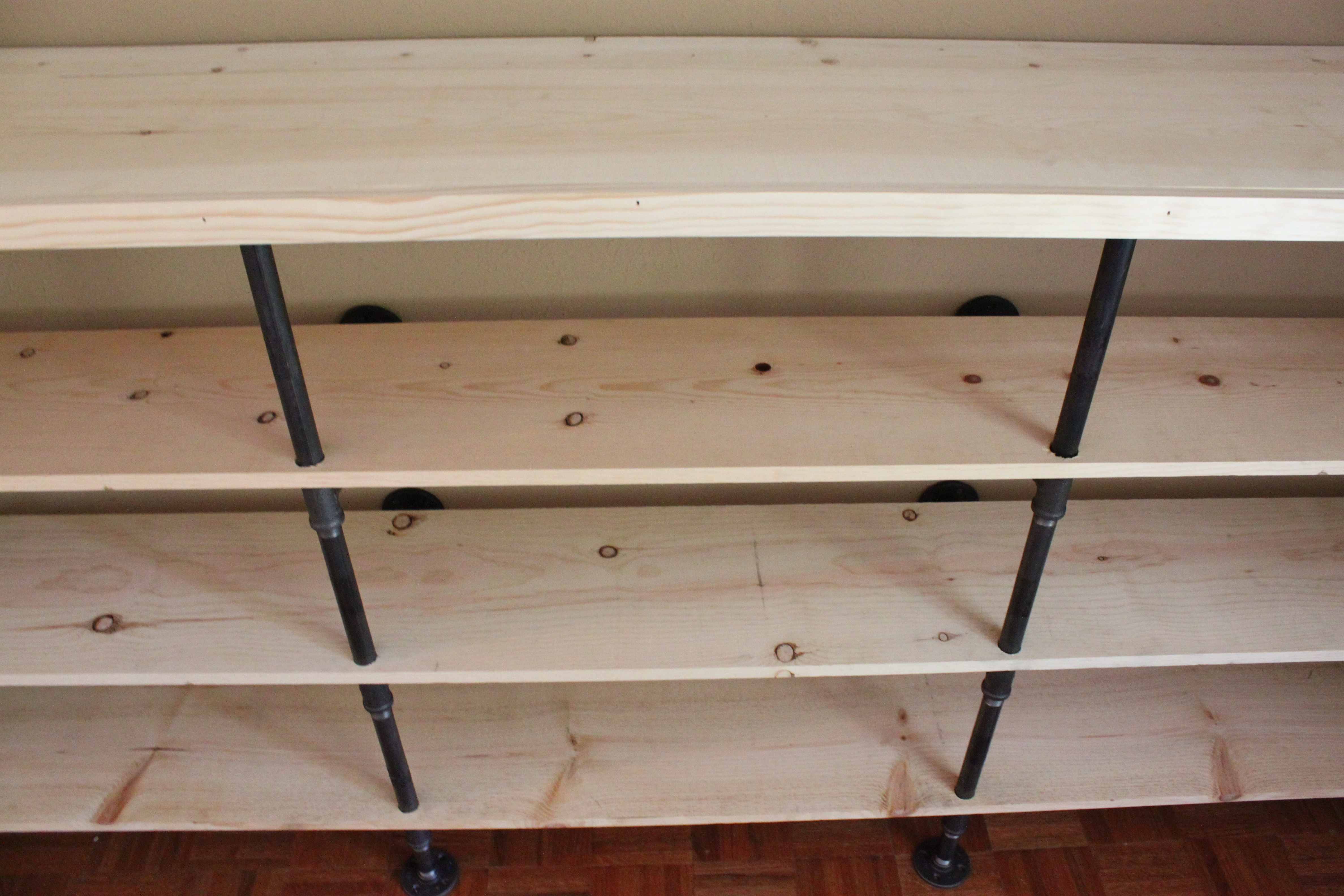 How To Build Plumbing Pipe Shelves | The Cavender Diary