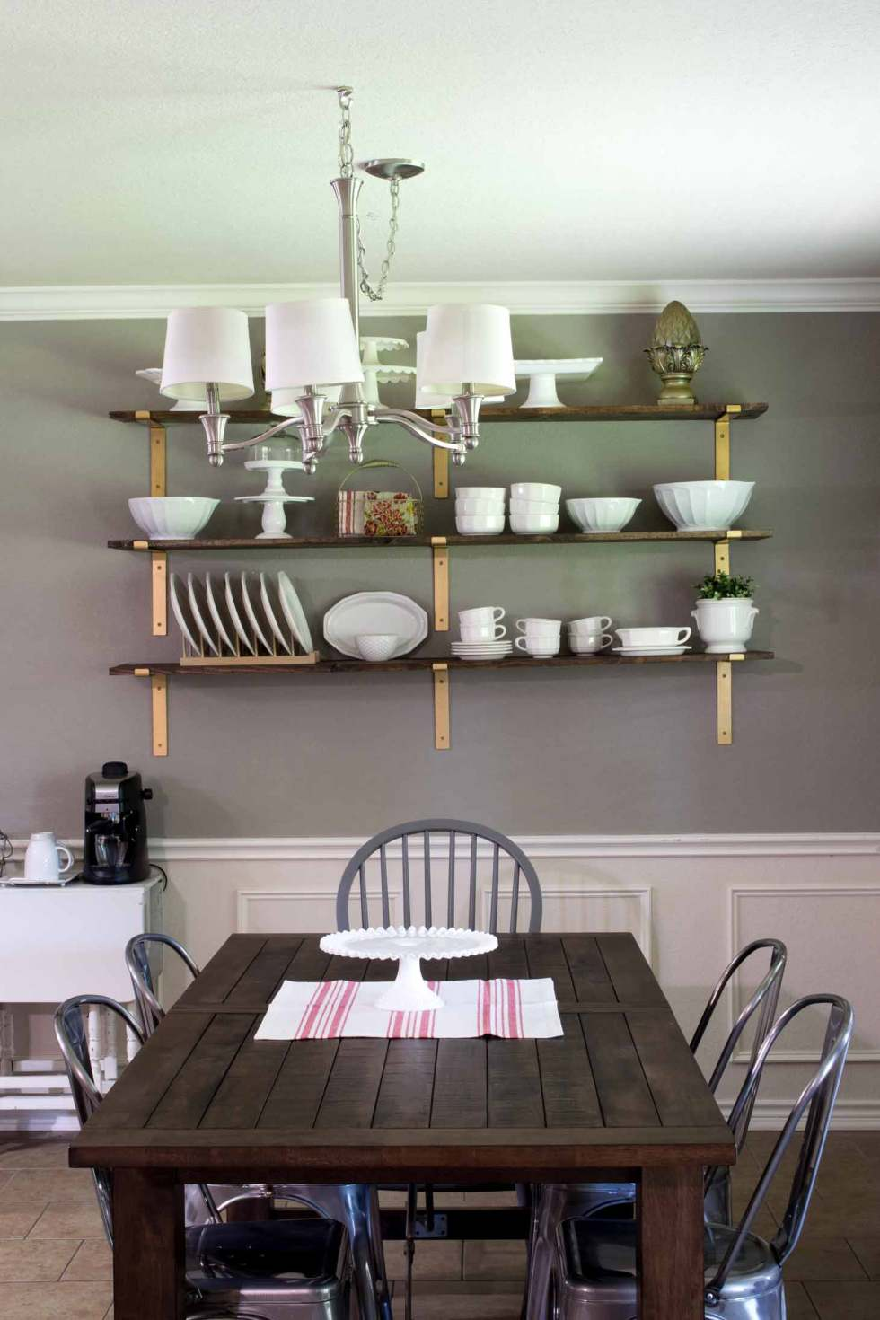 Dining Room Shelves For Dish Display - Major Hoff Takes A