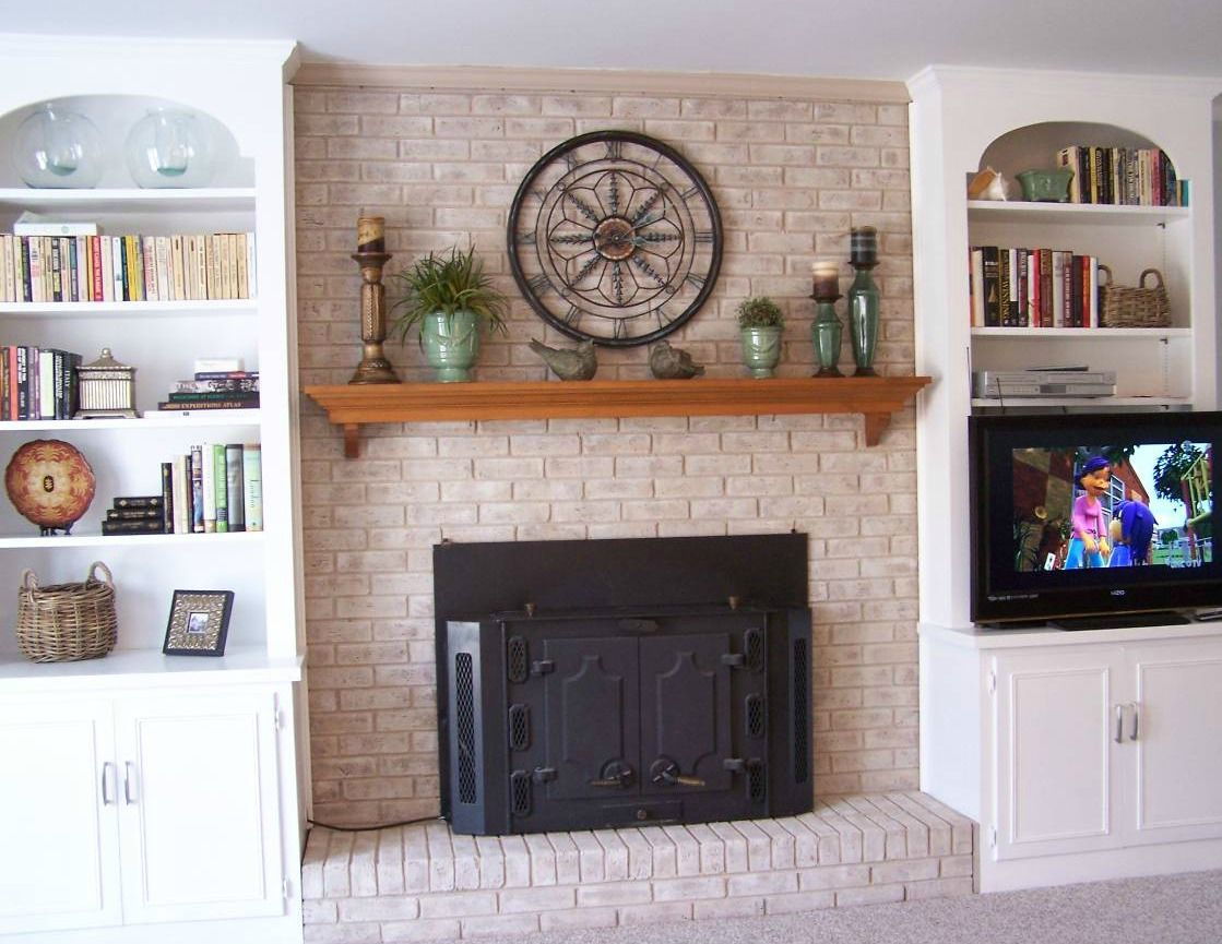 Fireplace Decorating: Fireplace Mantel Shelves An Easy Makeover