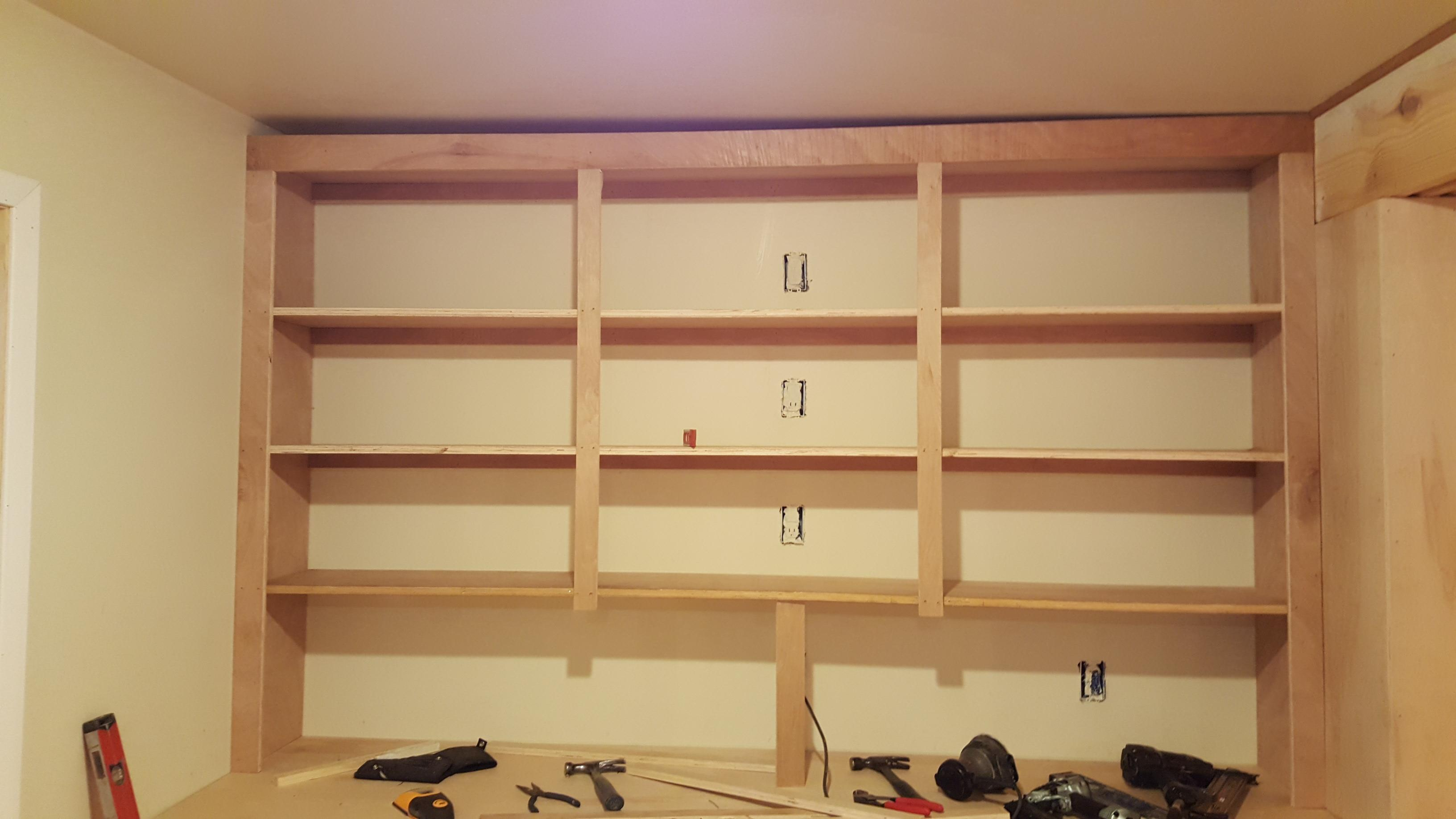 Any Ideas On How To Hide That Top? The Shelves Are Level