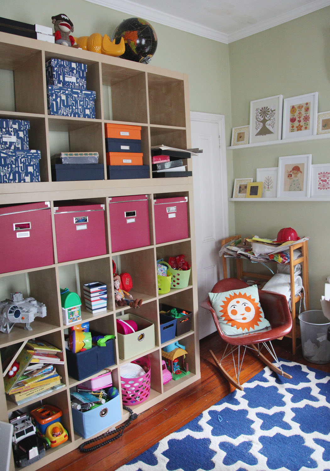 The Playroom: Double Height Expedit Shelves | Stately Kitsch