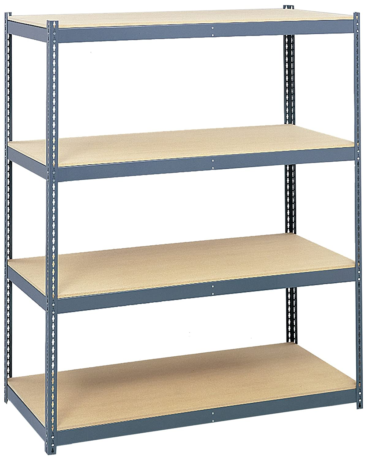 """Safco Products 5260 Archival Shelving Steel Frame 84""""h For Use With  Archival Shelves 5261, Sold Separately, Gray"""