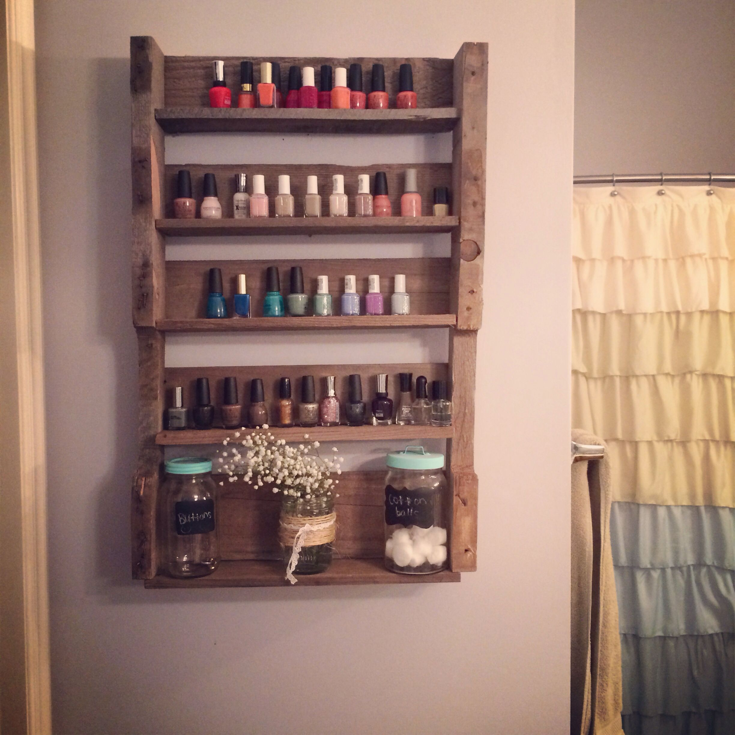 Wooden Pallet Project: Nail Polish Shelves | My Completed Projects