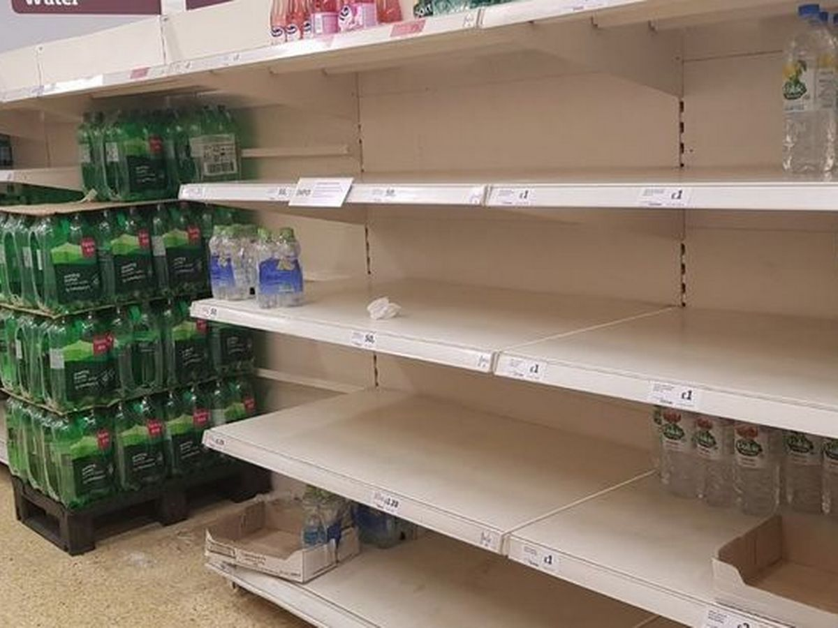 Supermarkets' Shelves And Freezers Are Bare And Nobody Knows