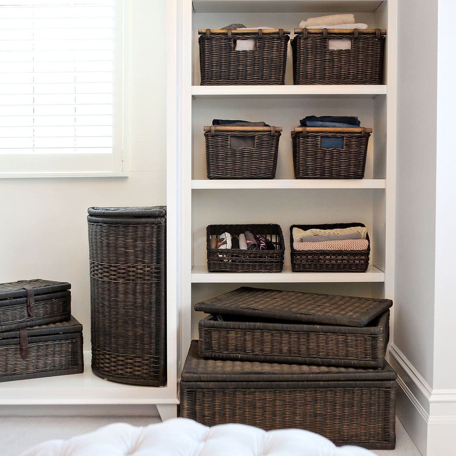 Wicker Storage Baskets For Shelves & Closets | The Basket Lady