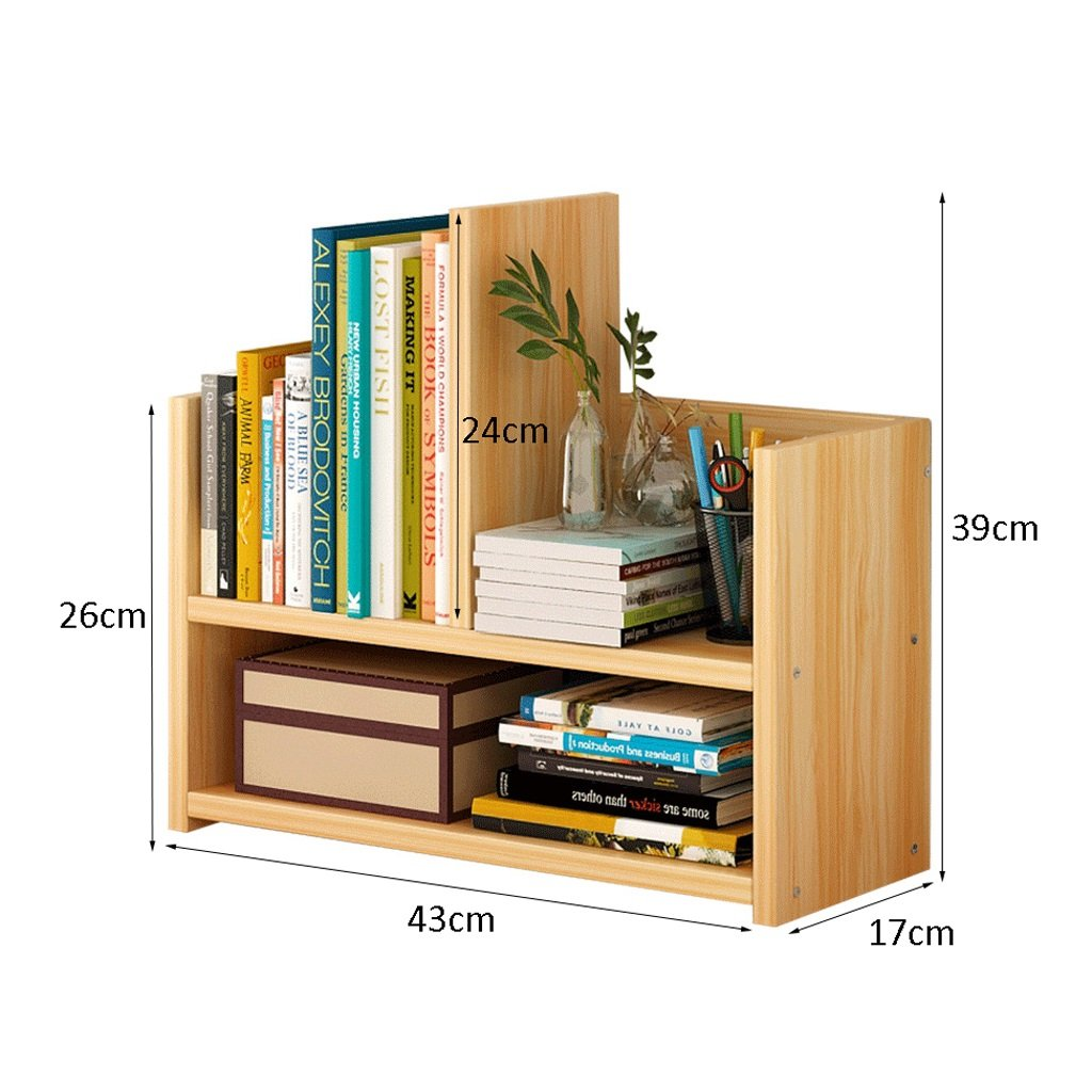 Zww Electronic 2 Tier Wood Bookcase Shelves