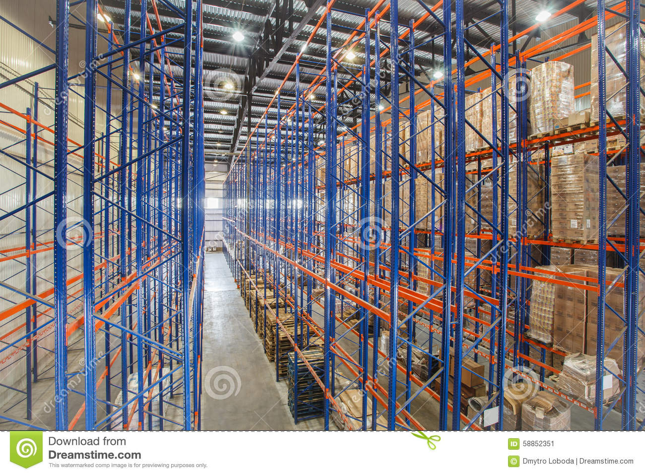Warehouse Shelves Stock Image Image Of Building, Business