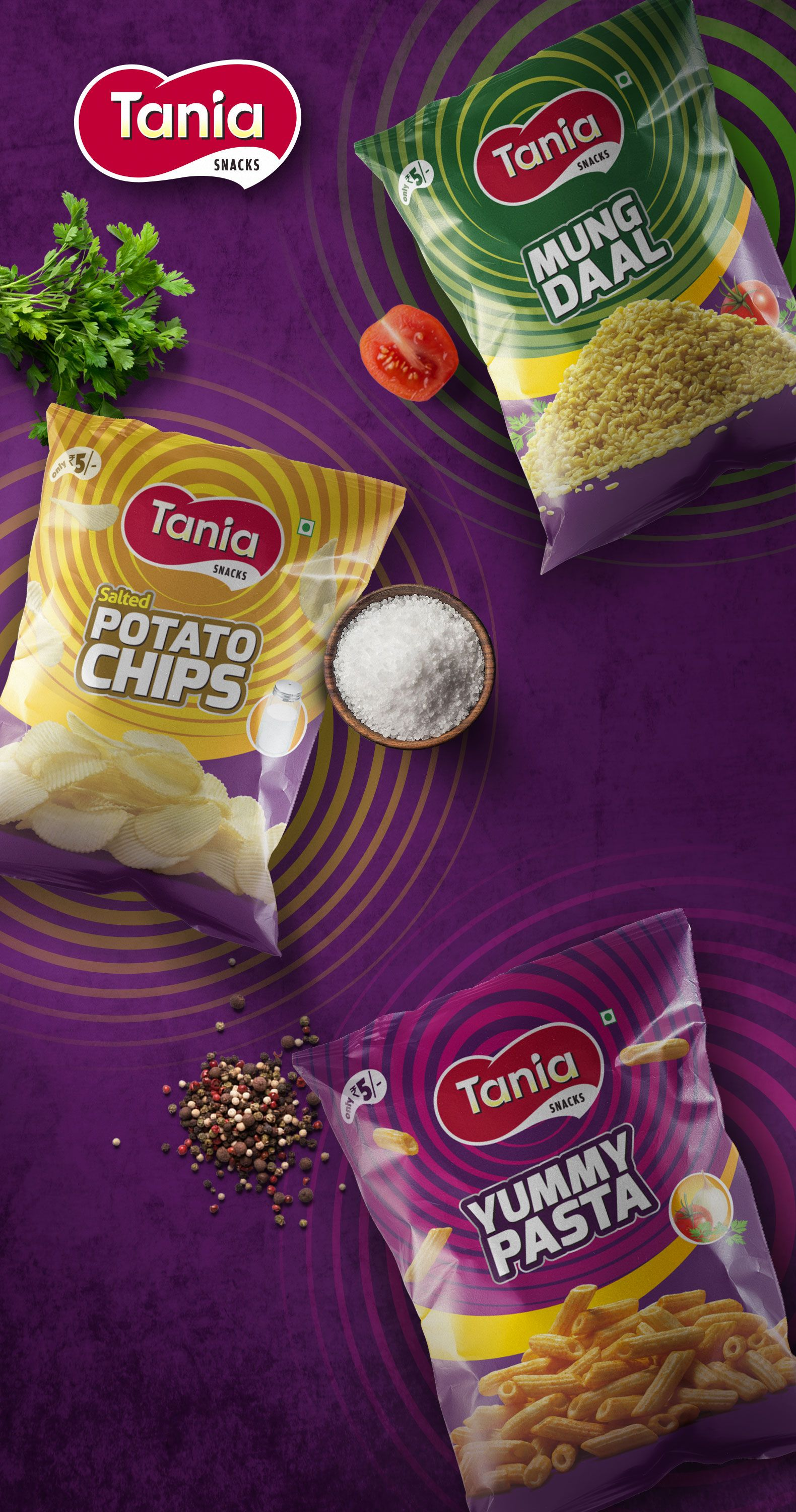 Tania Chips Aspired To Stand Out On The Shelves When Kept