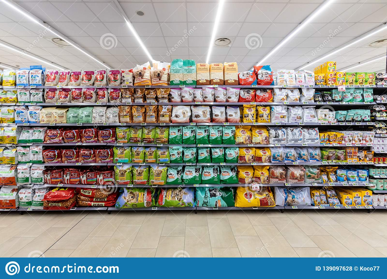Food Department For Dogs And Cats Pets Food Shelves