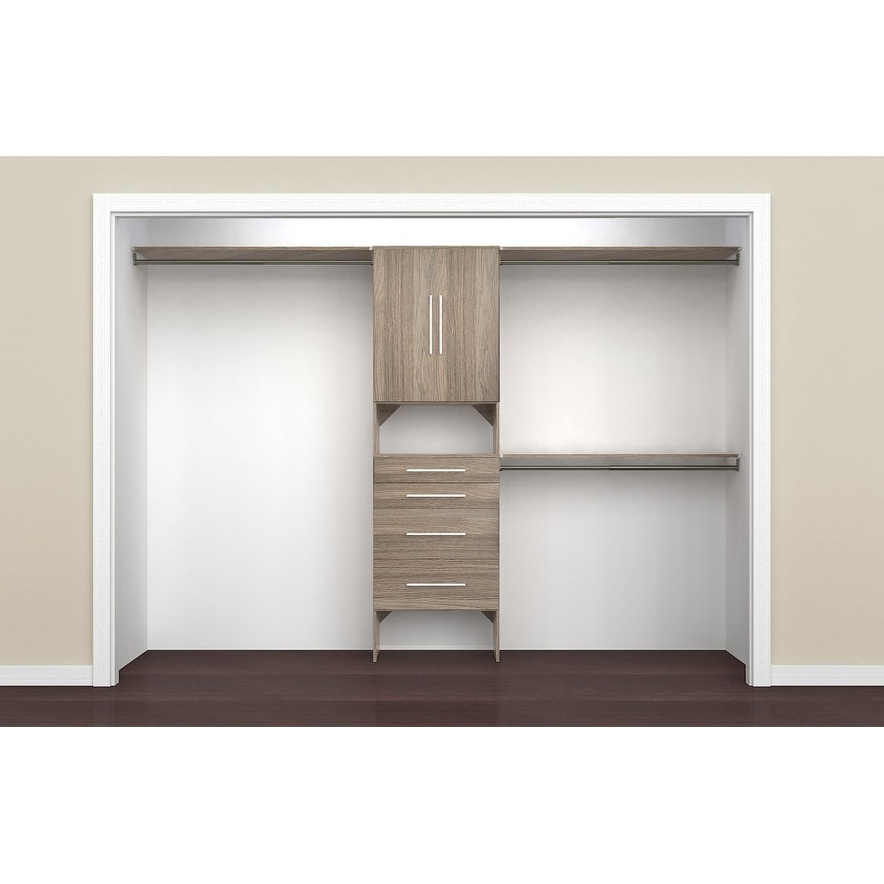 Closetmaid Suitesymphony Modern 25 In Closet Organizer With Shelves, 4  Drawers And 2 Doors