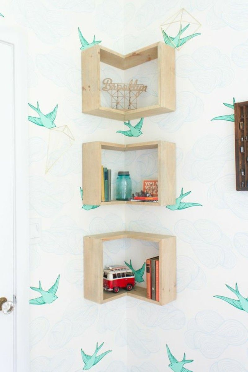 Corner Shelves Build Small Decorative Items For The