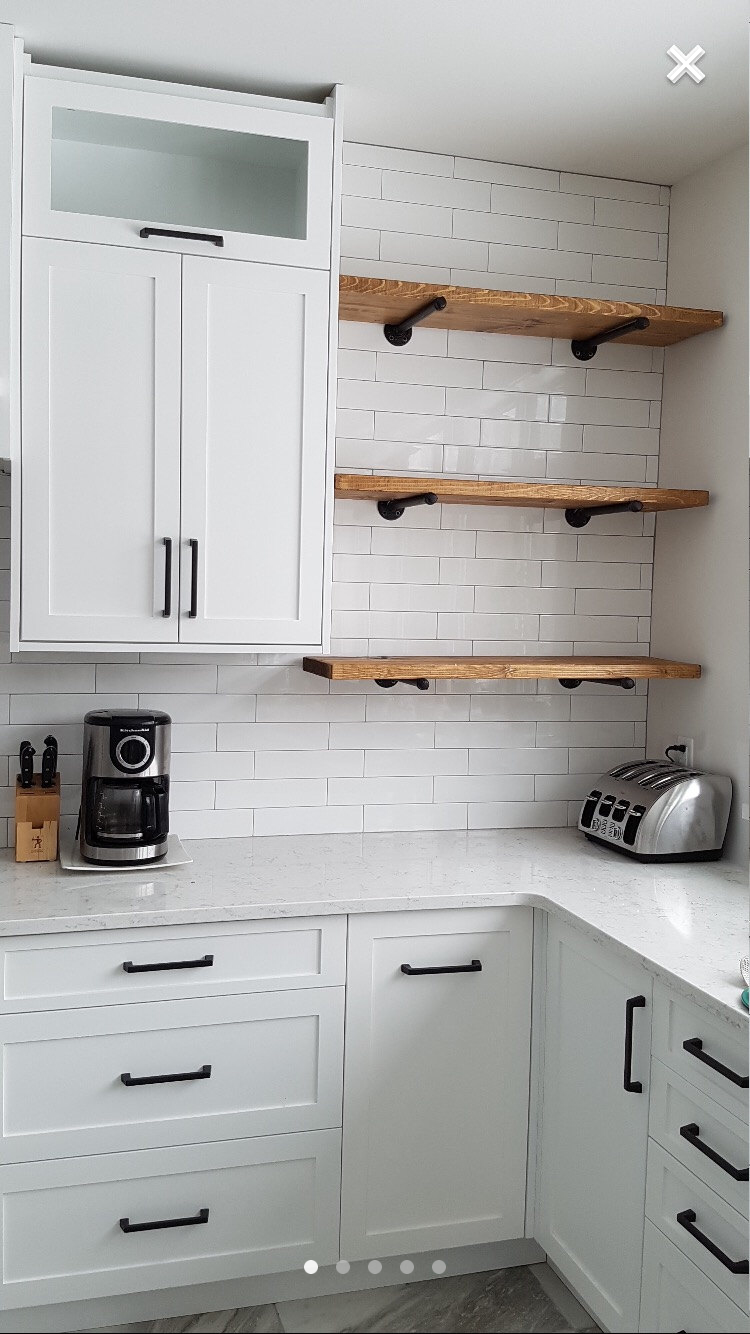 Like Small Section Of Open Shelves (wood To Match Flooring