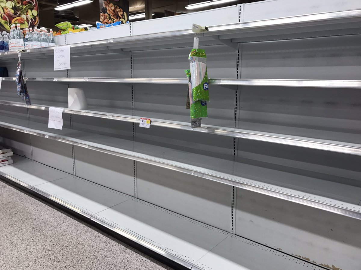 Empty Shelves In Florida In Anticipation Of Hurricane Irma