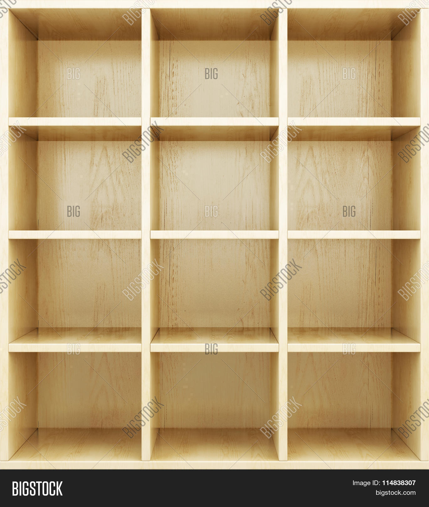 Empty Wooden Shelves Image & Photo (free Trial) | Bigstock