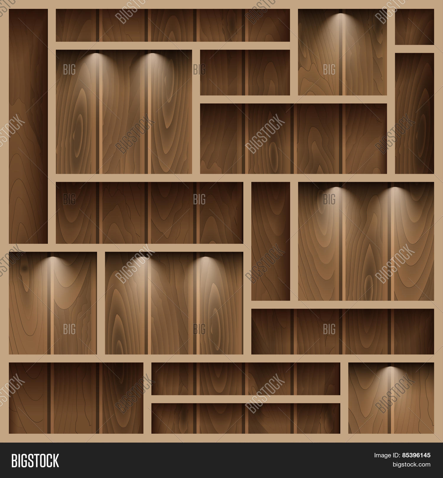 Wooden Shelves Vector & Photo (free Trial)   Bigstock