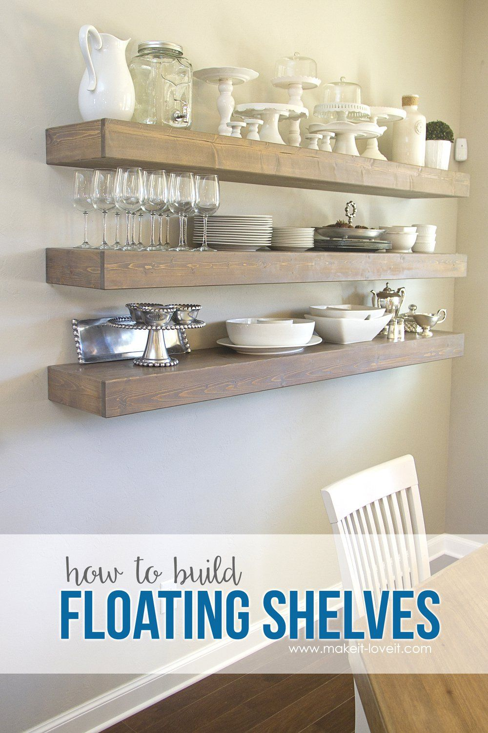 How To Build Simple Floating Shelves (…for Any Room In The