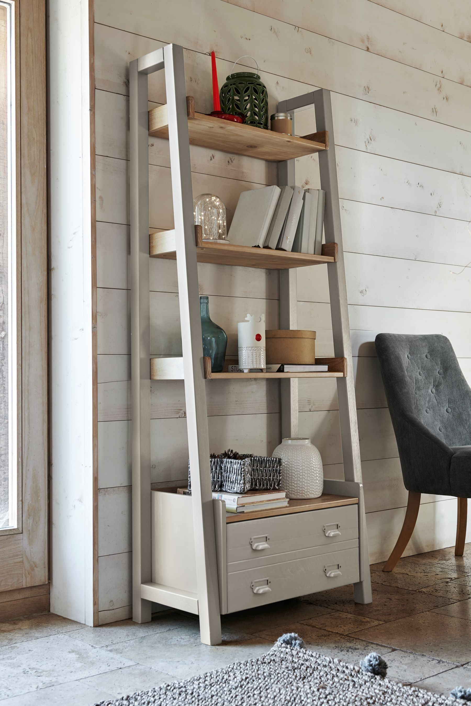 Huxley Painted Ladder Shelves   House Designs In 2019