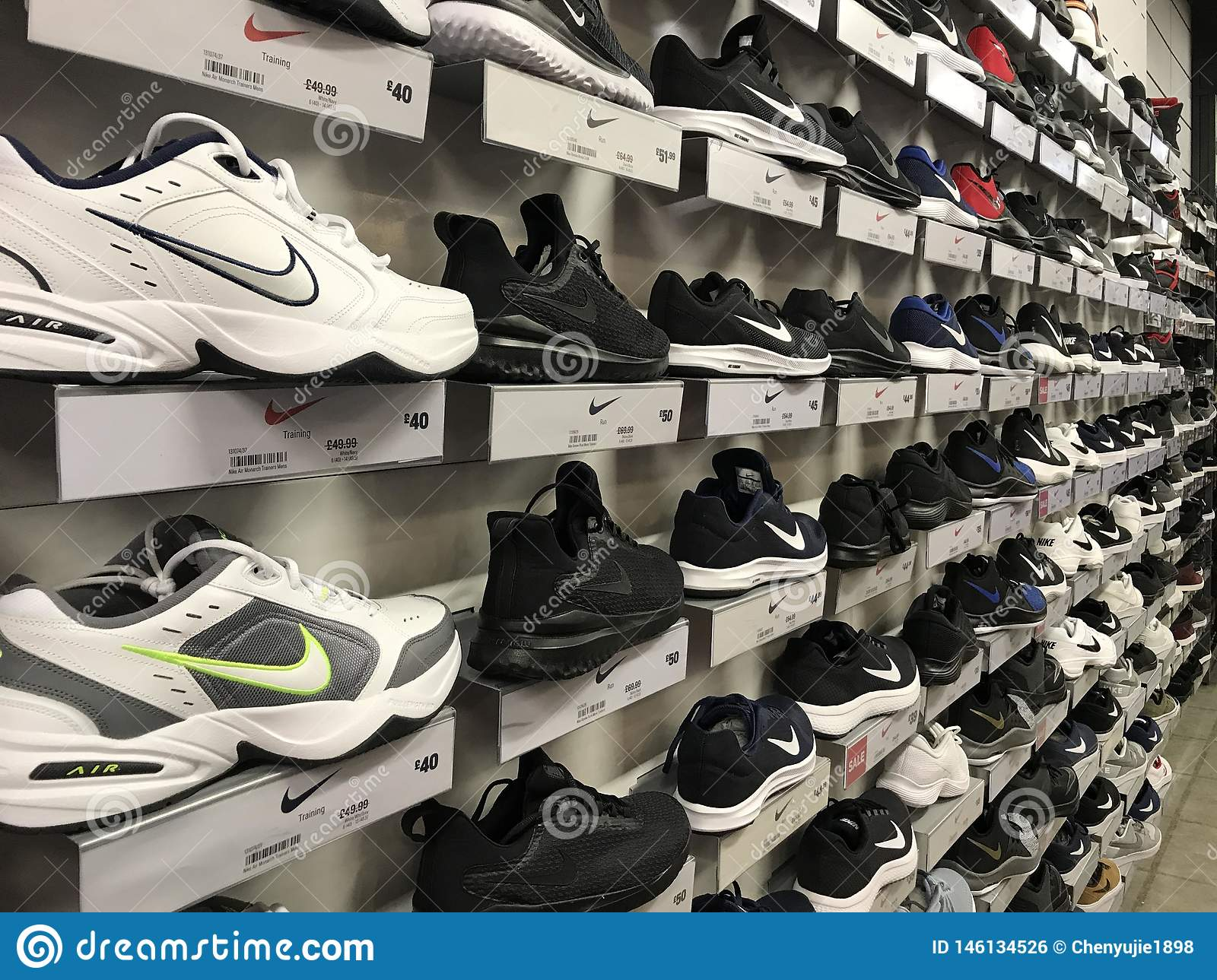 Nike Shoes Editorial Photo Image Of Shelves, Trainning