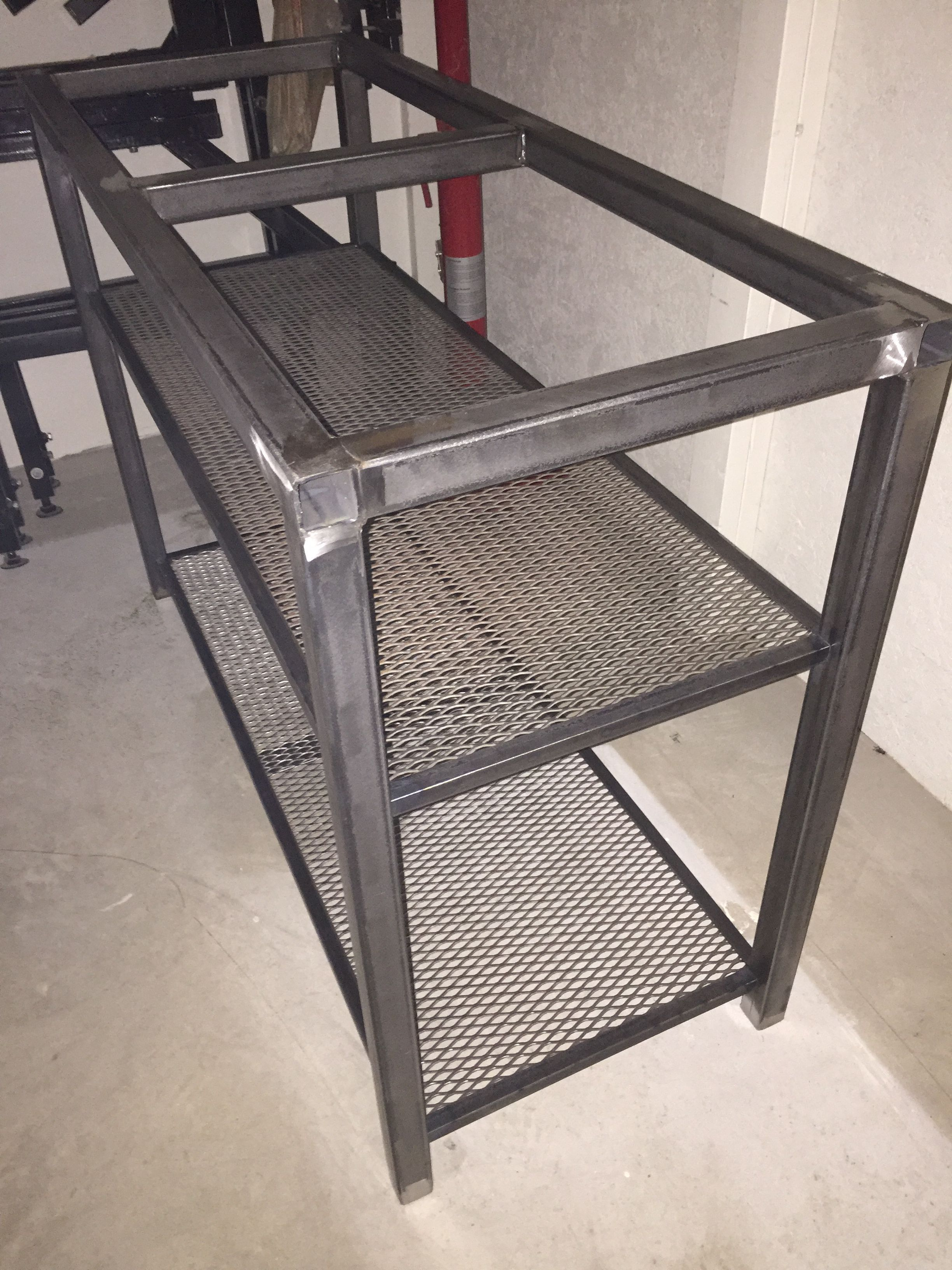 15 Steel Table Frame With Expanded Metal Shelves That Will
