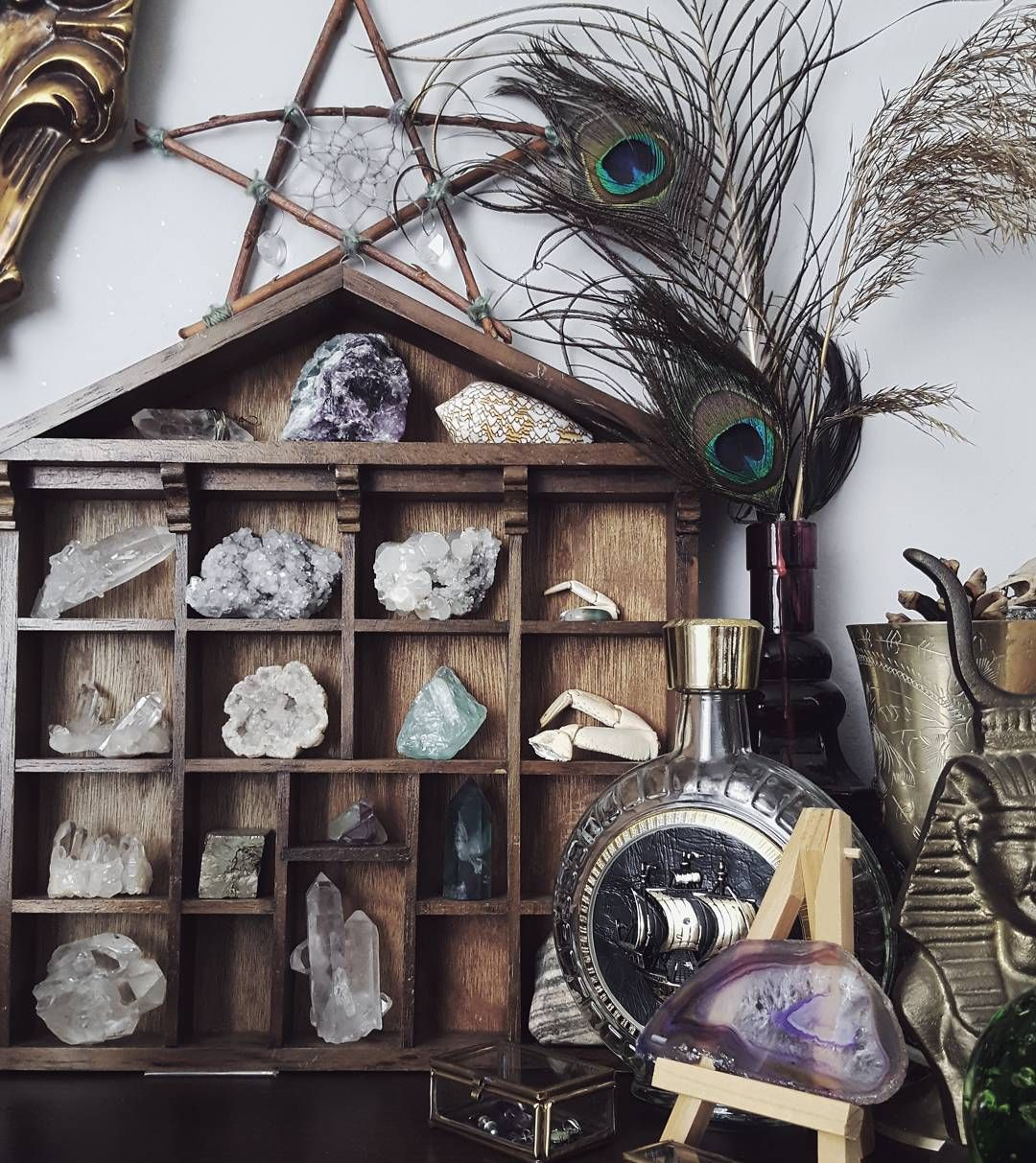 Pin By Teatreeohm On Wicca In 2019   Crystal Shelves, Wiccan