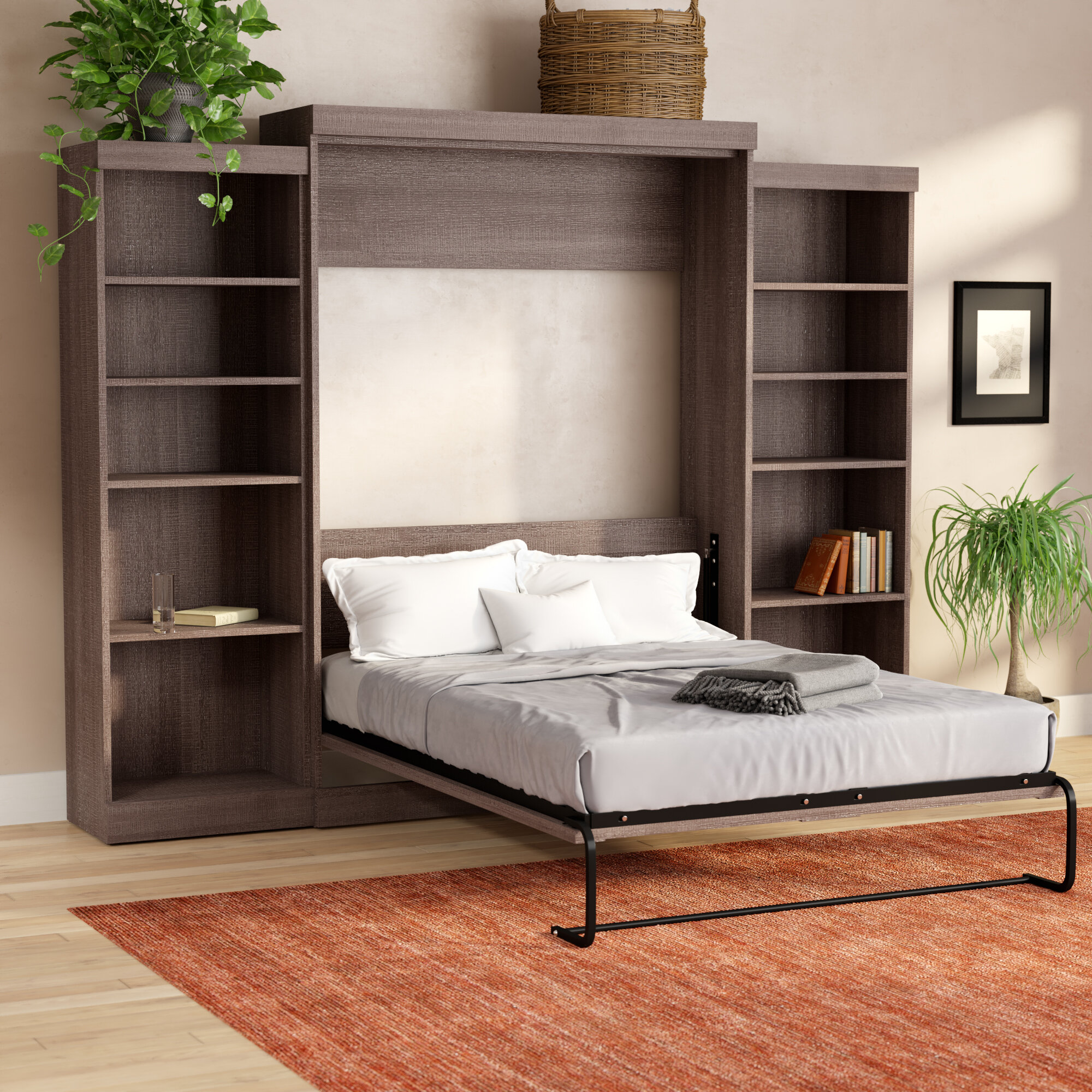 Full Size Bed With Shelves You'll Love In 2019   Wayfair