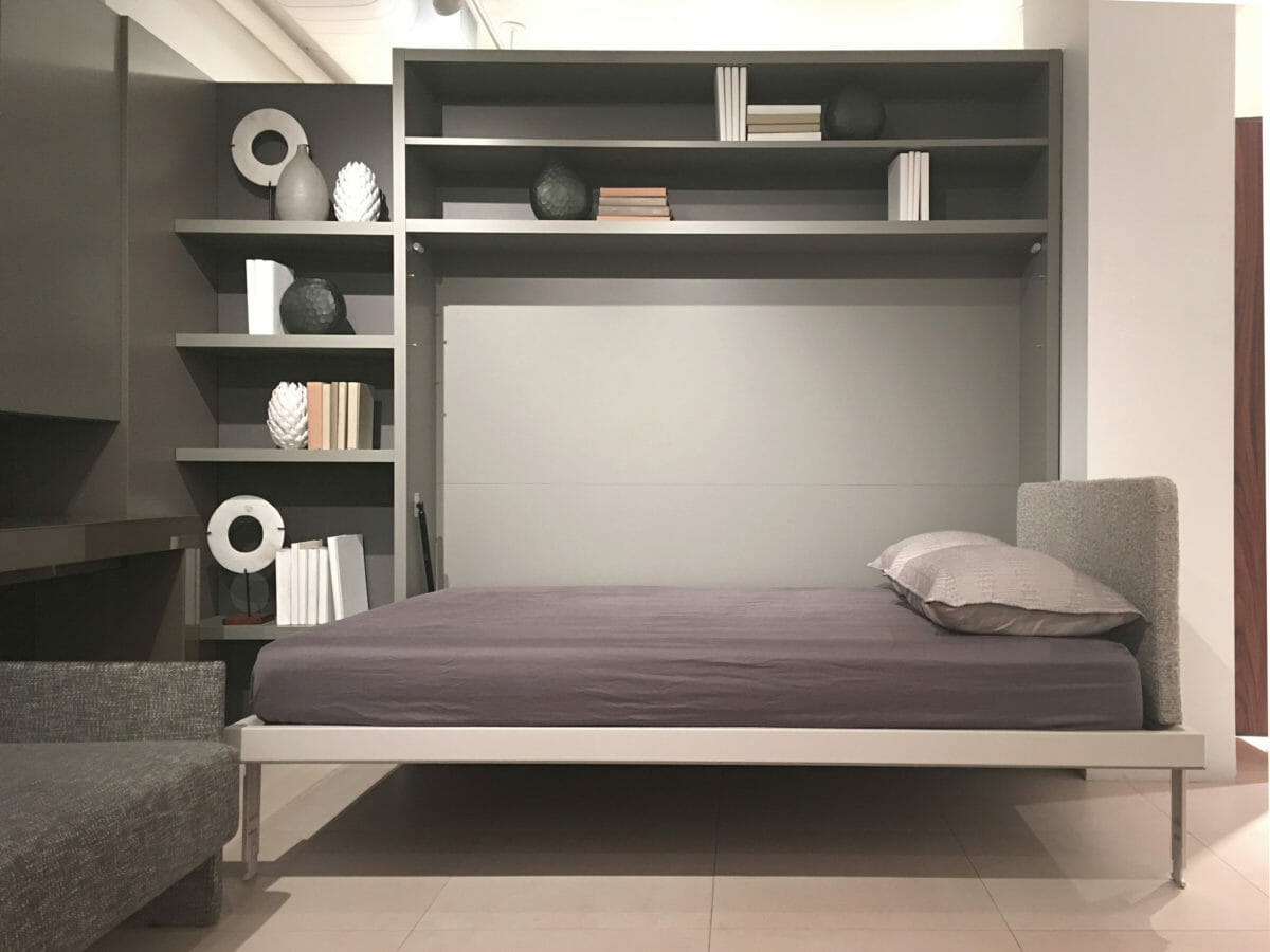 Circe Queen Wall Bed & Shelves   Space Saving Furniture