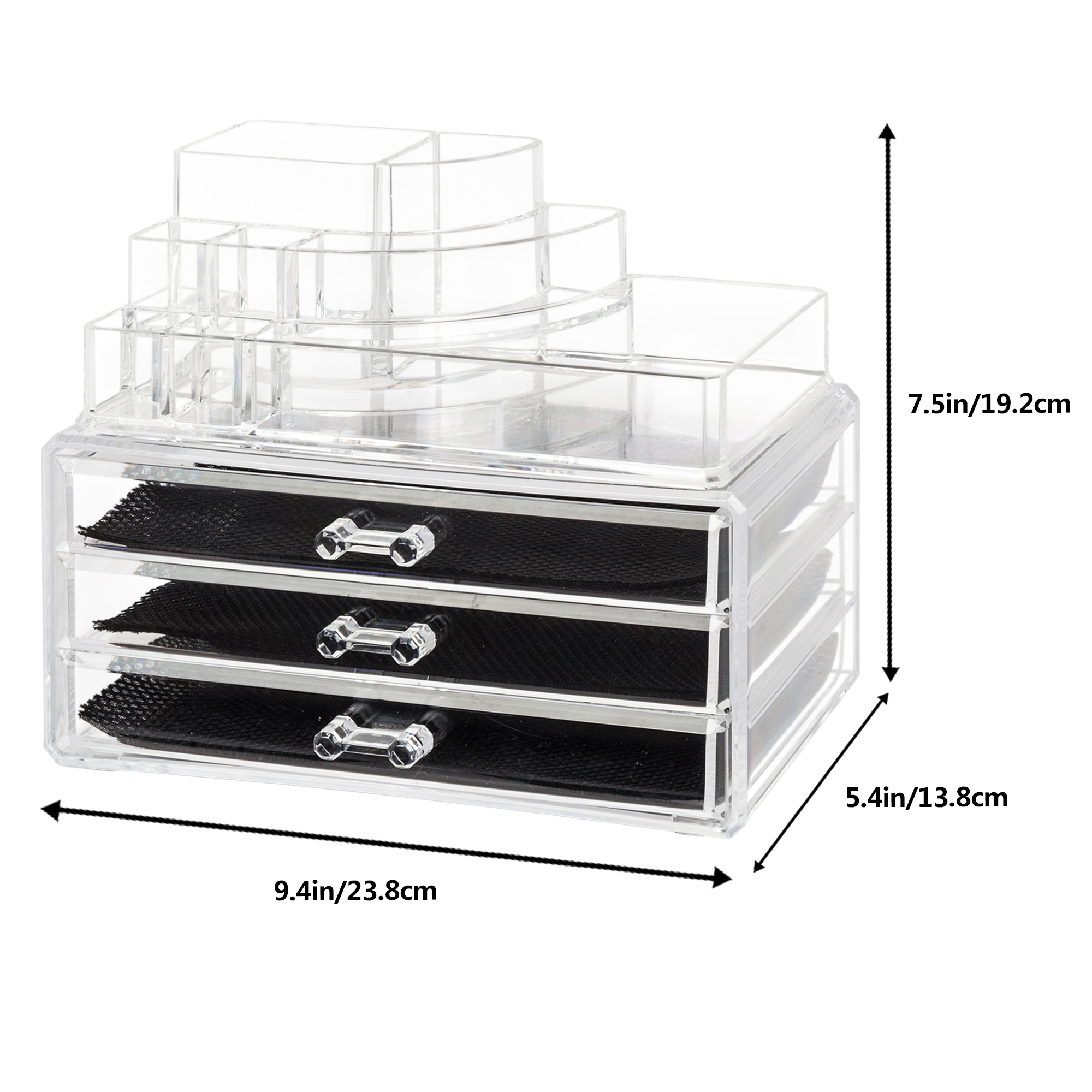 Details About Beauty Cosmetic Makeup Jewelry Storage Rack Shelves Case Box  Table Holder