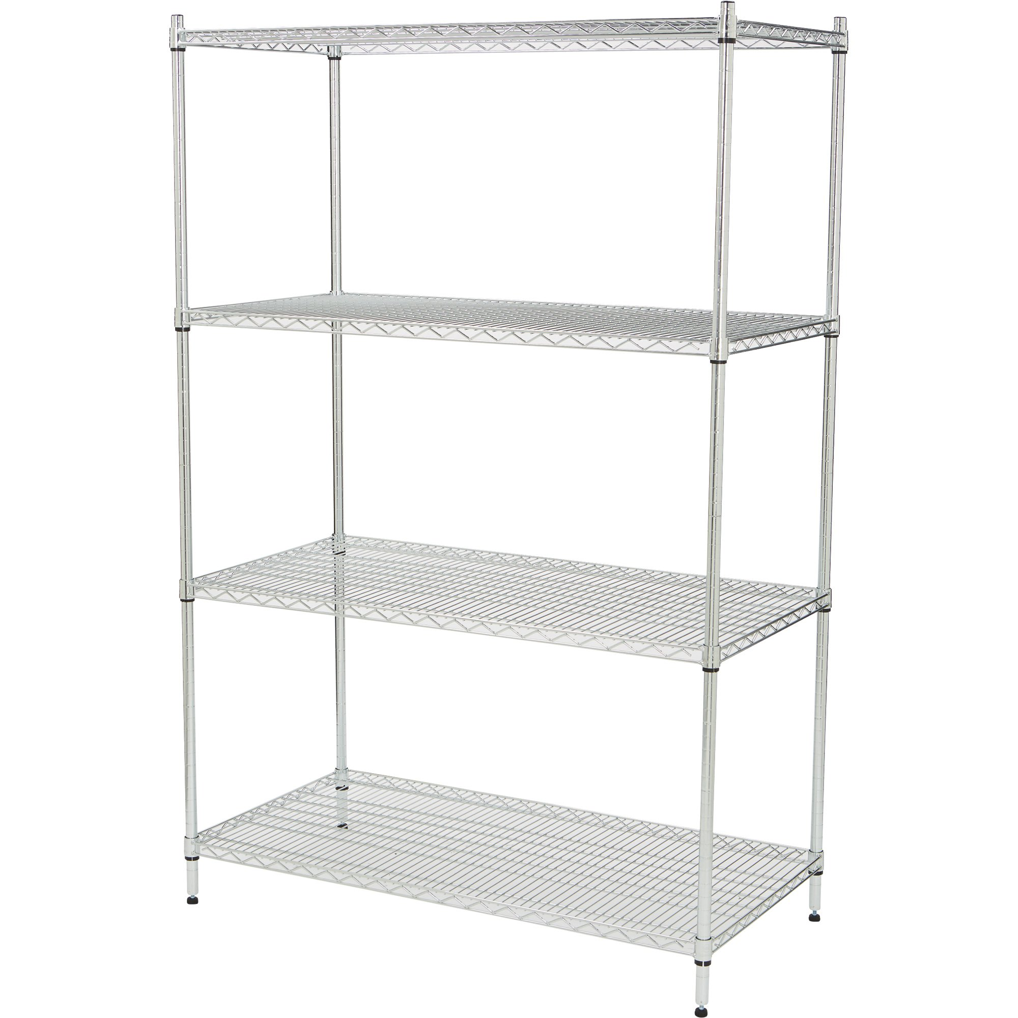 Strongway Heavy-duty Wire Shelving System — 4 Shelves, 800-lb Capacity Per  Shelf, 48inw X 24ind X 72inh