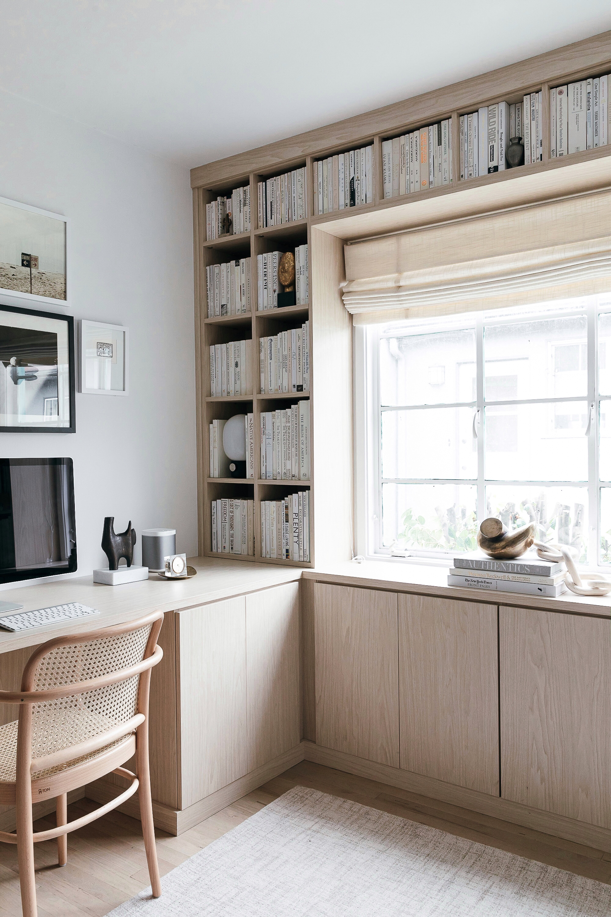 California Closets Built-in Bookshelves: Our Home Office