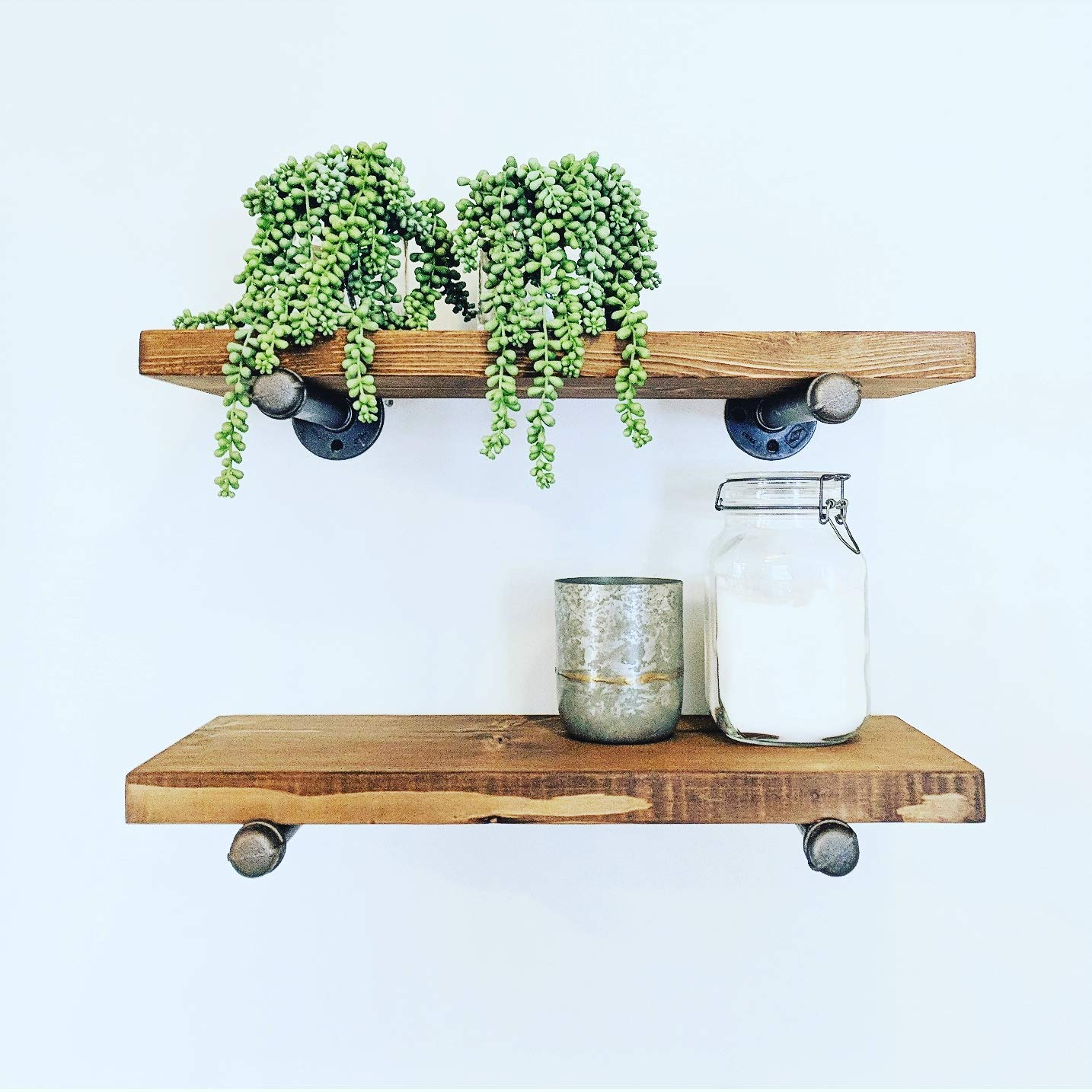 Industrial Floating Shelves 24 Inches X 55 Inches (set