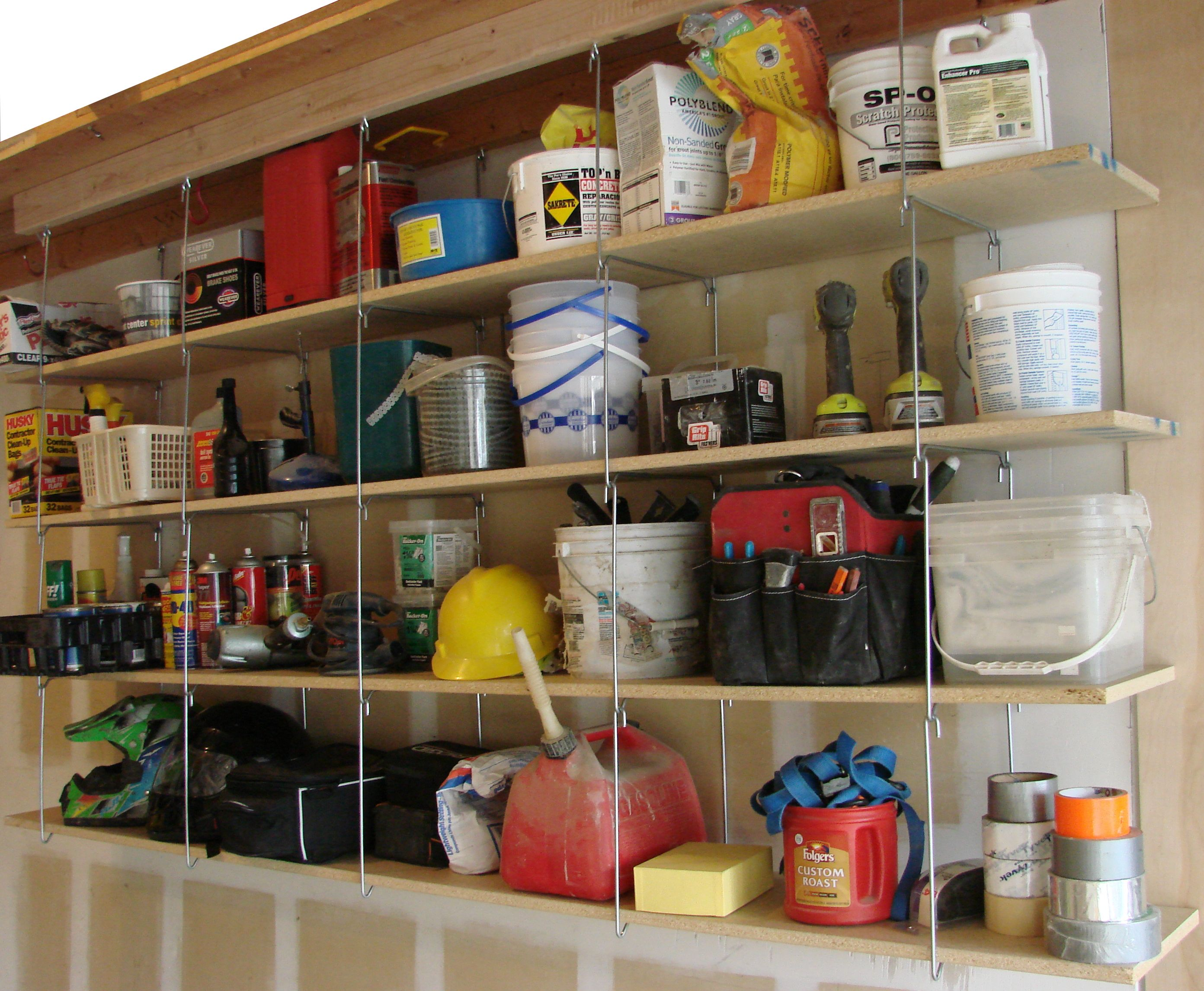 Hangashelfcom-shelves Can Hang From The Ceiling Joists To