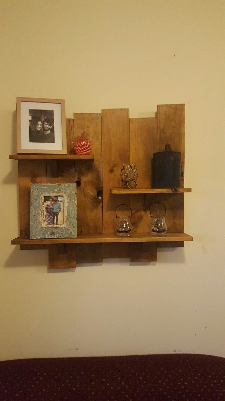 Recycled Pallet Board Shelving | Wood For Me | Shelves