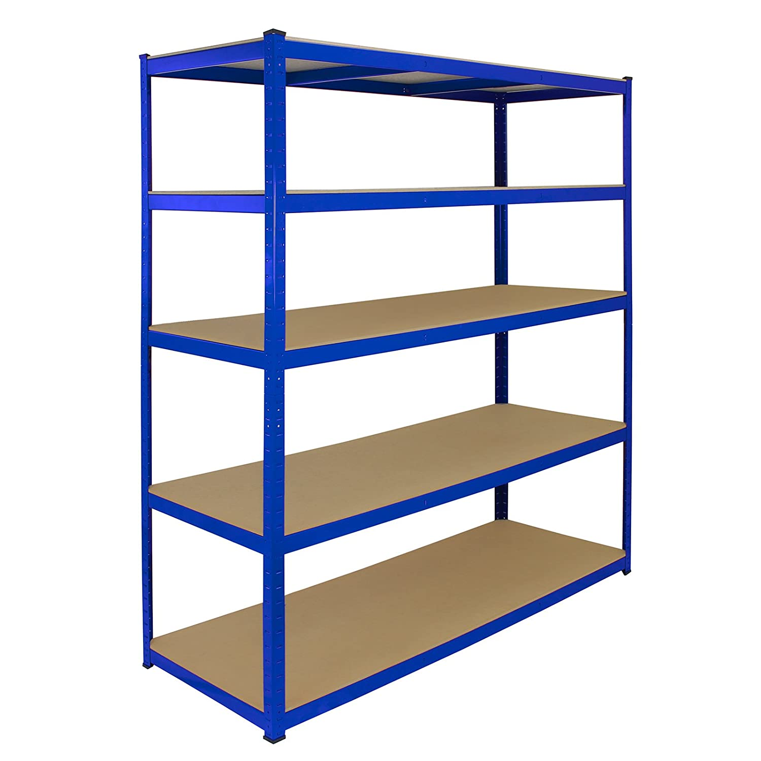 Monster Racking T-rax Extra Wide Storage Shelves, Blue