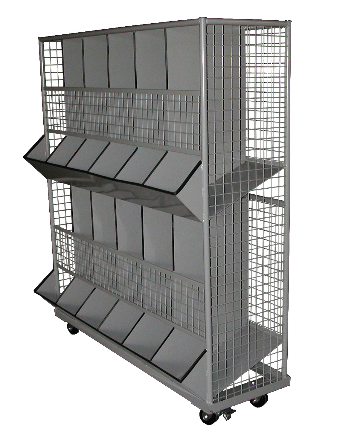 10 Section Utility Bin Cart – 2 Shelves – George O'day's Inc