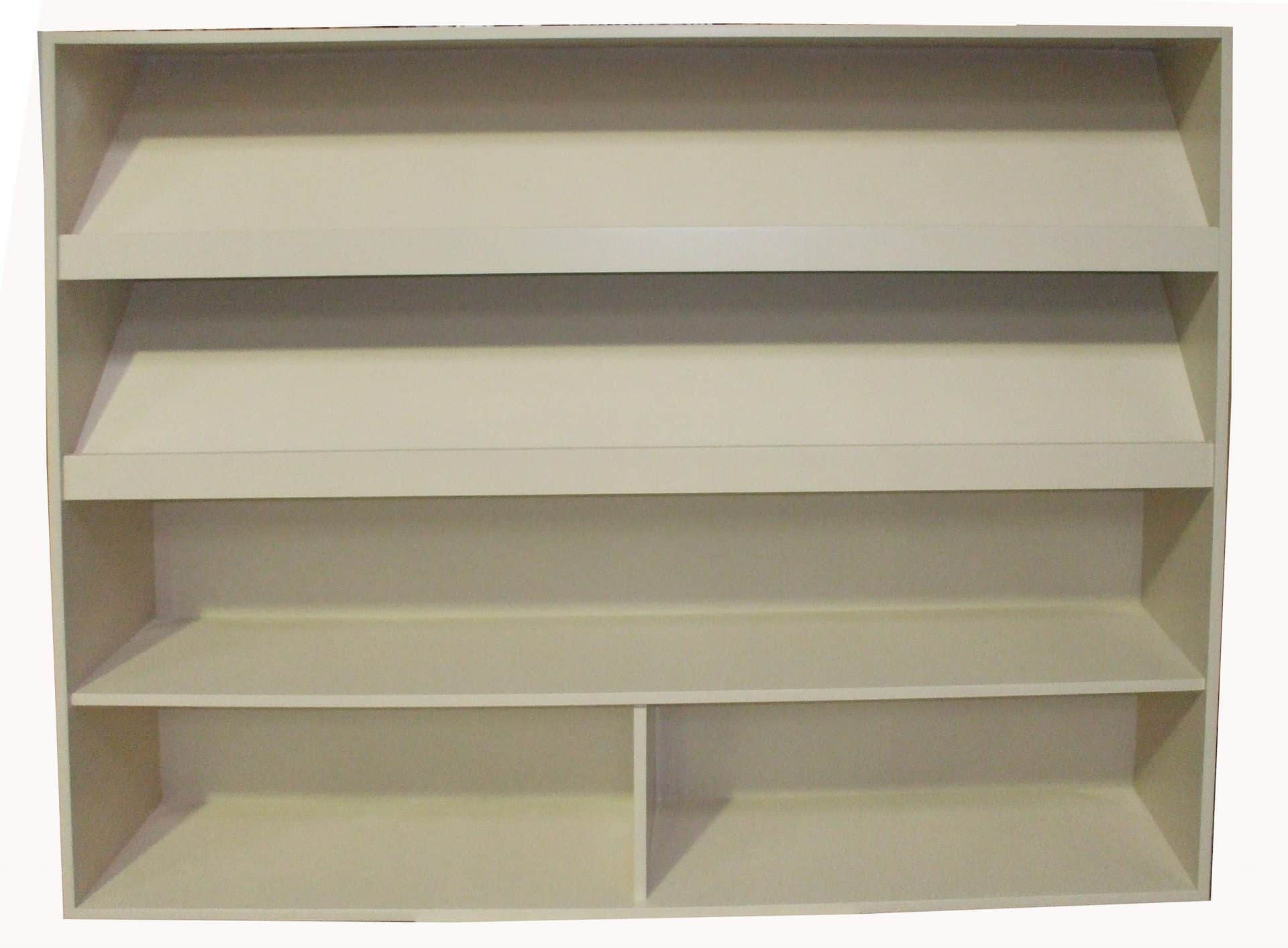 Book Or Toy Storage With Sloping Display Shelves - 3d Products