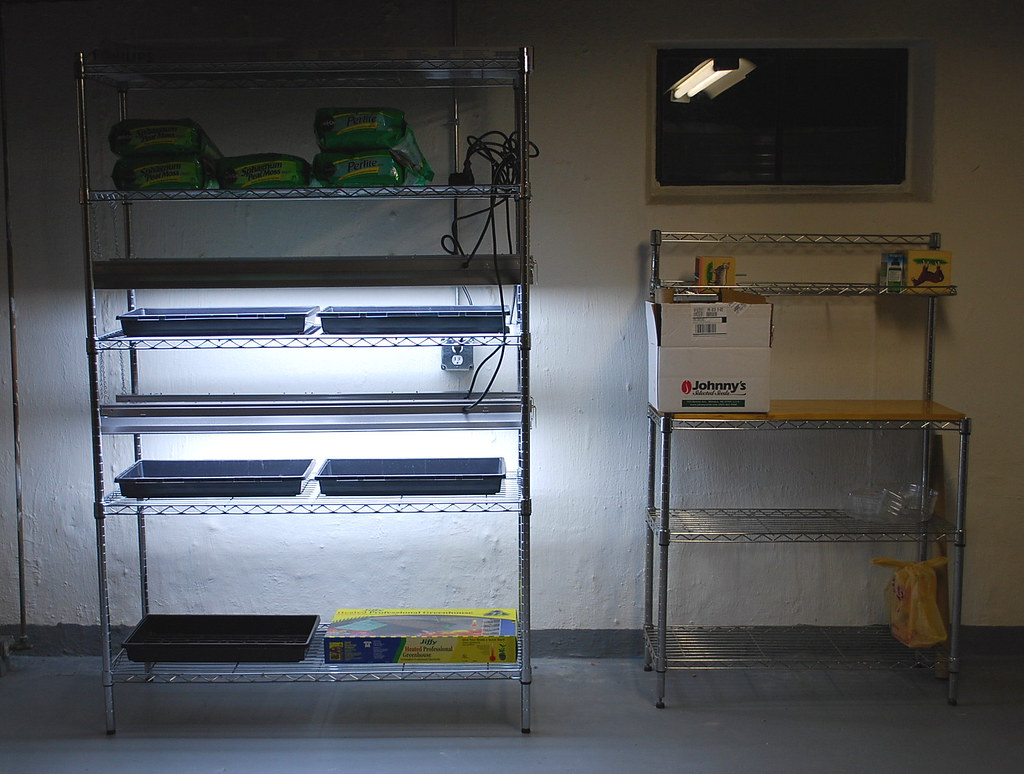 Seed Starting Shelves 3   A Growing Tradition Blog   Flickr